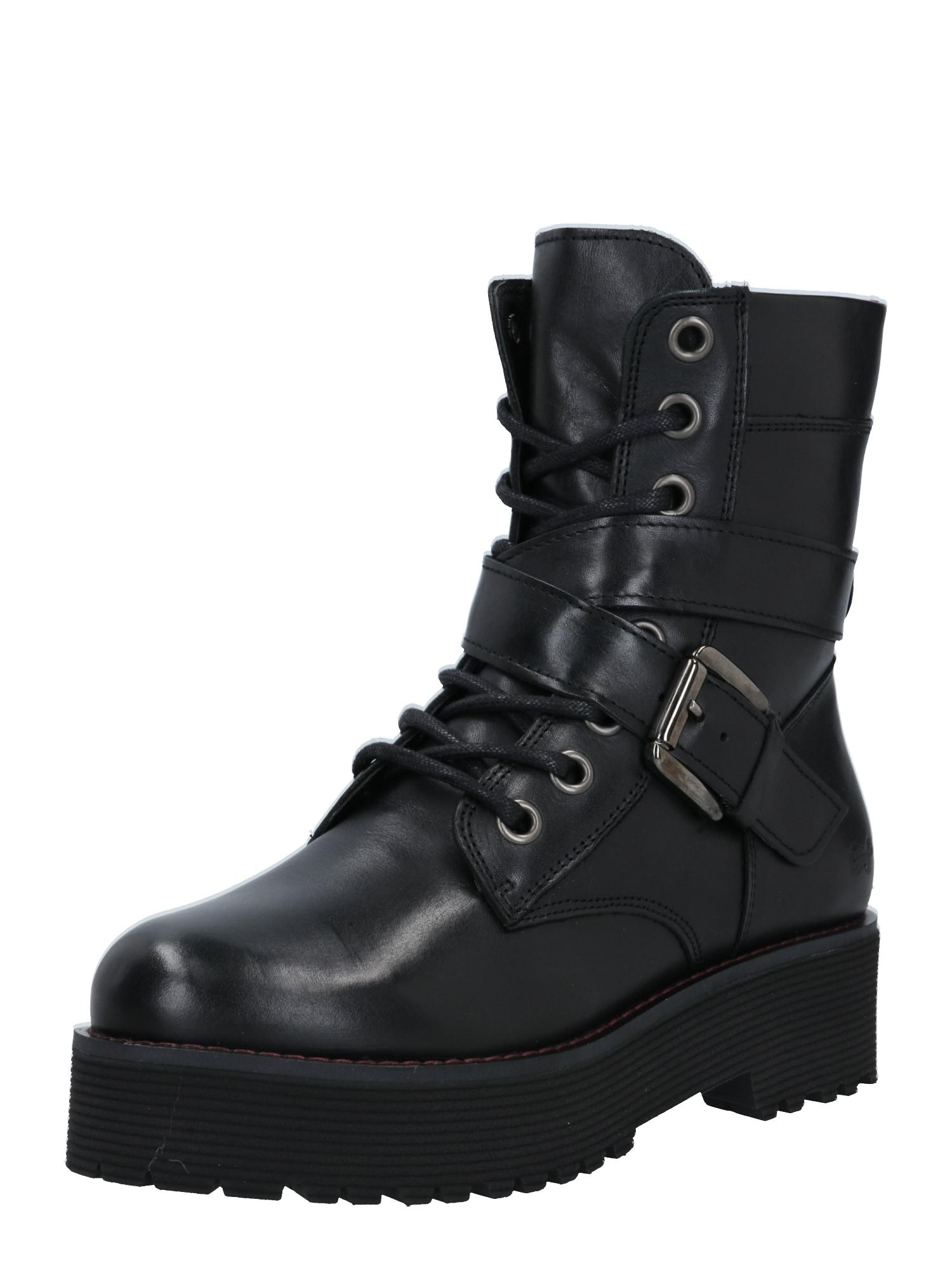 BUFFALO Šněrovací boty 'Maple'  černá