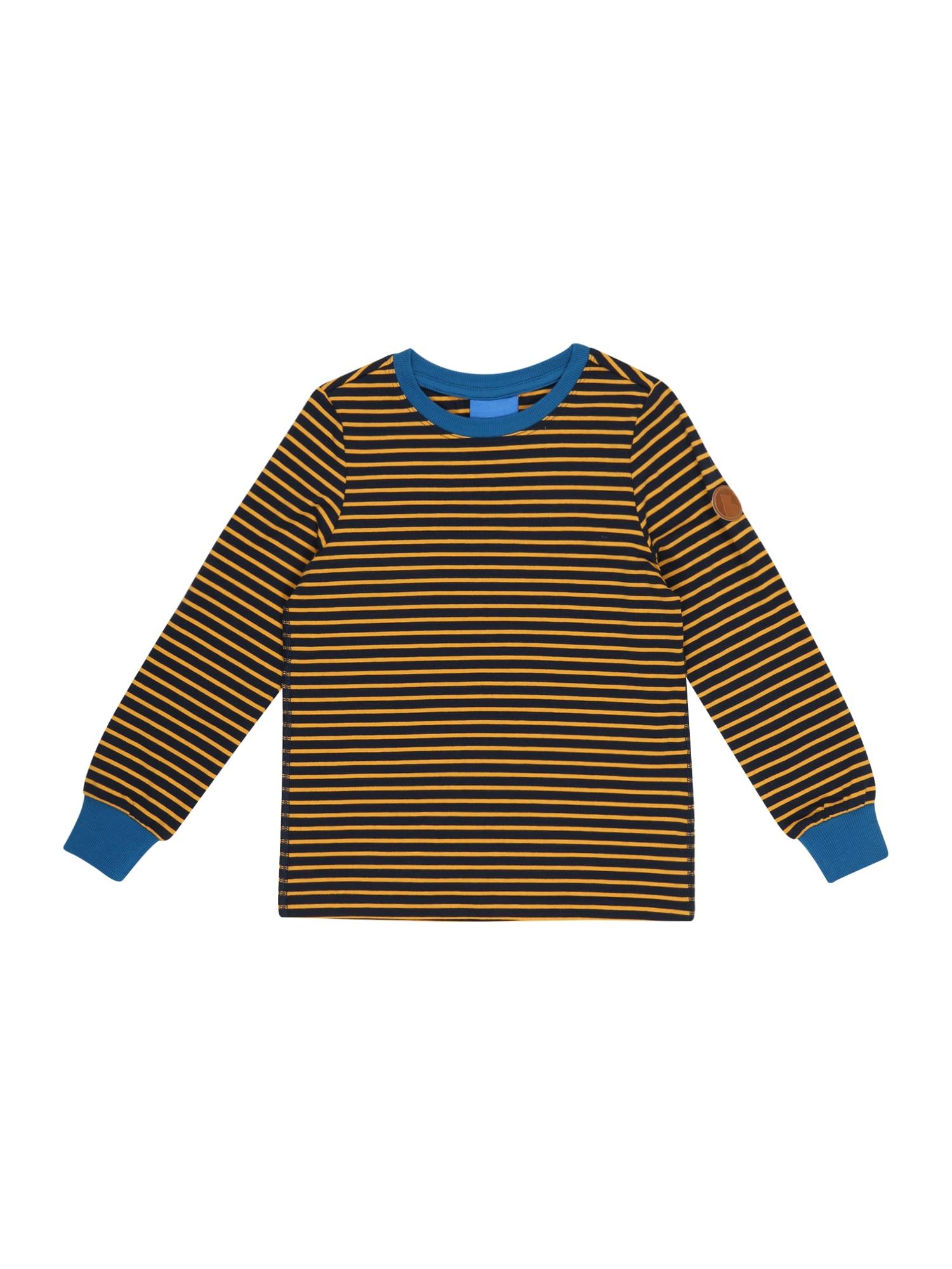 FINKID Marškinėliai aukso geltonumo spalva / tamsiai mėlyna / dangaus žydra