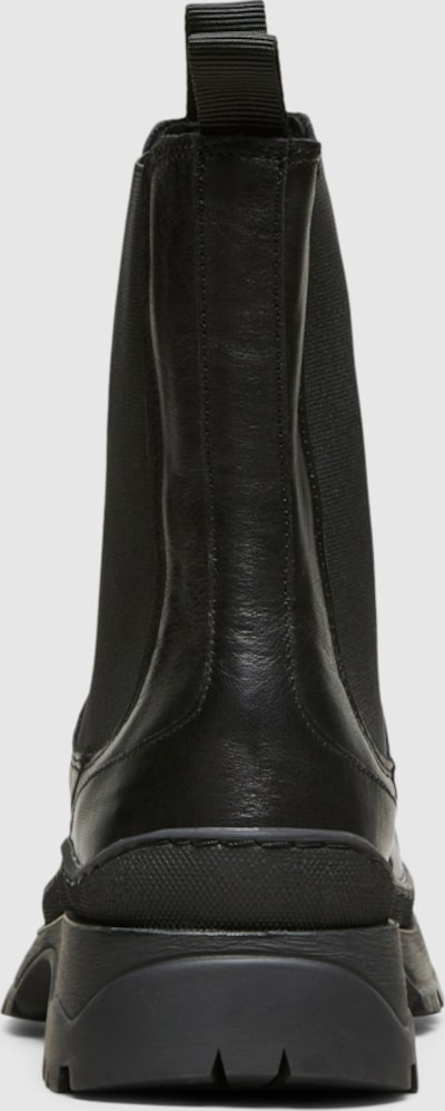 Selected Femme Lucy Chelsea Boots aus grobem Leder