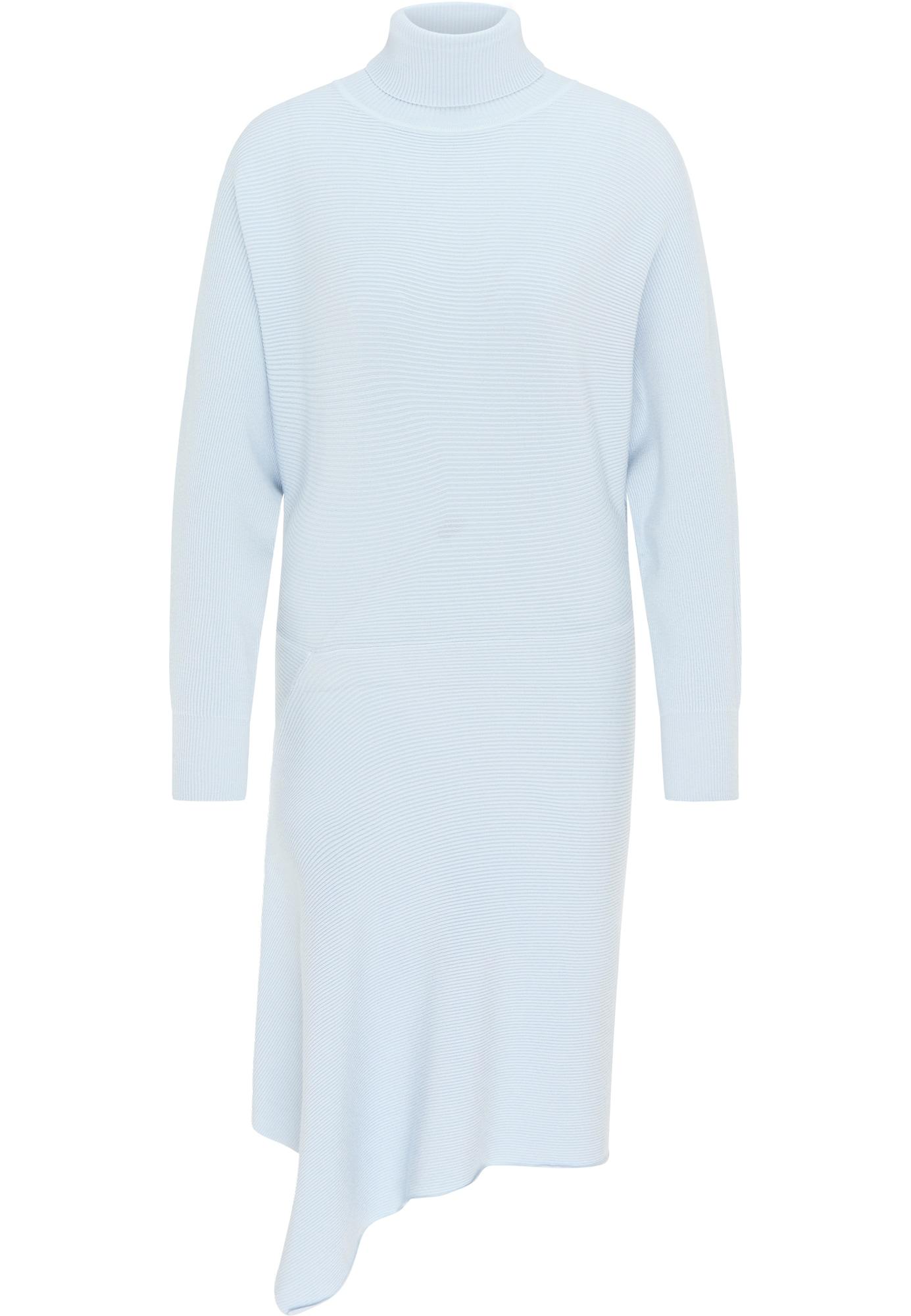 usha WHITE LABEL Megzta suknelė šviesiai mėlyna