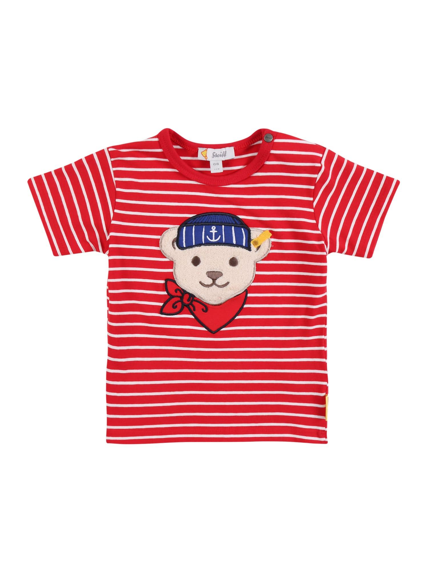 Steiff Collection Marškinėliai raudona / balta / mišrios spalvos