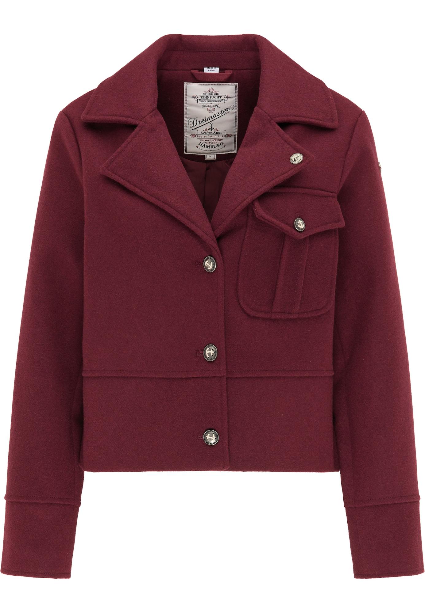 DreiMaster Vintage Švarkas skaisti avietinė ar rubino spalva