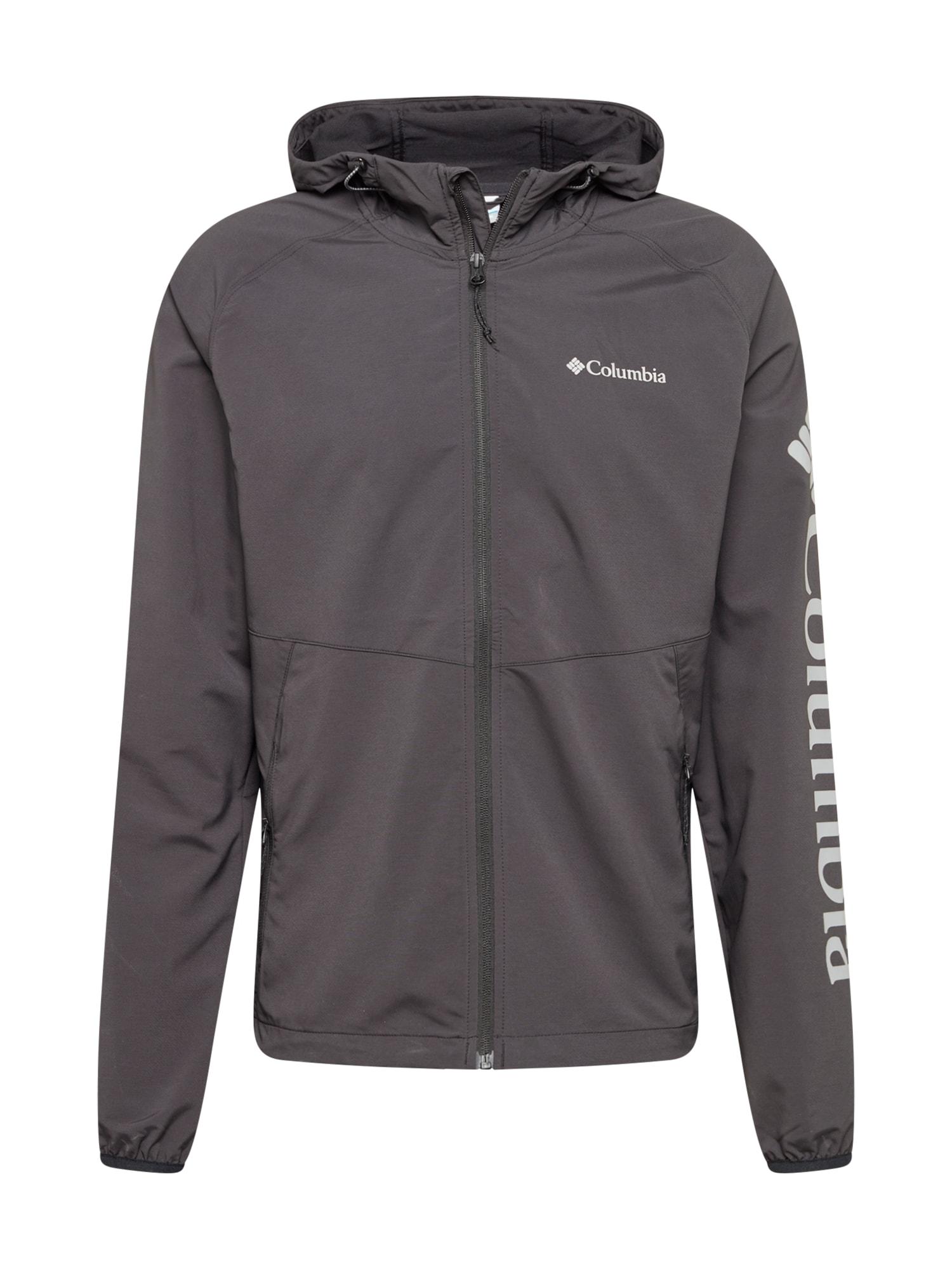 COLUMBIA Outdoorová bunda 'Panther Creek'  černá / šedá