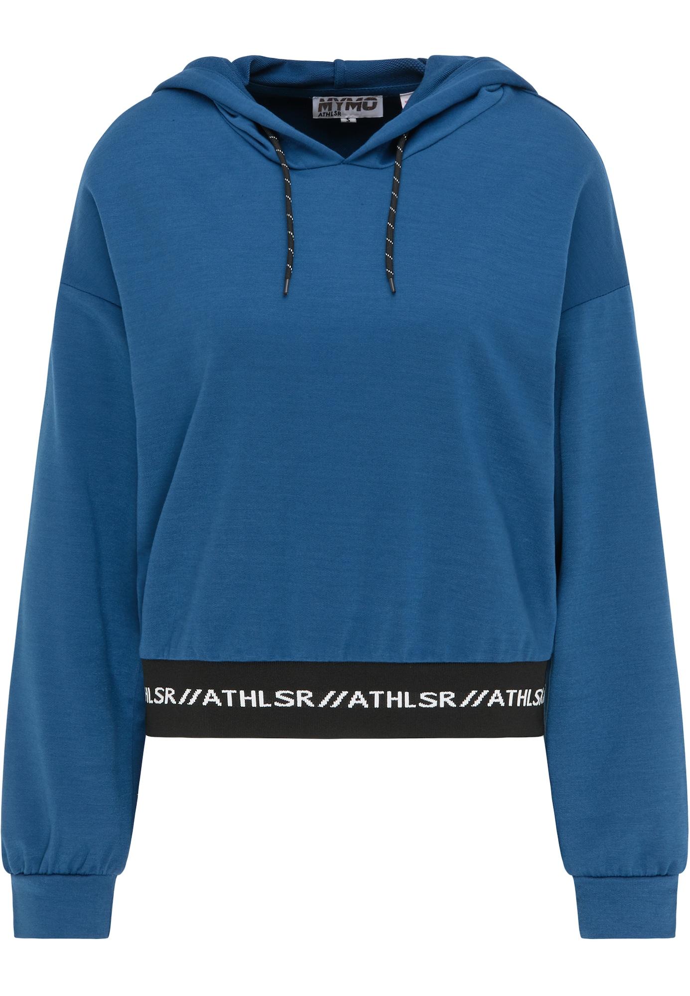 myMo ATHLSR Sportinio tipo megztinis mėlyna / juoda / balta
