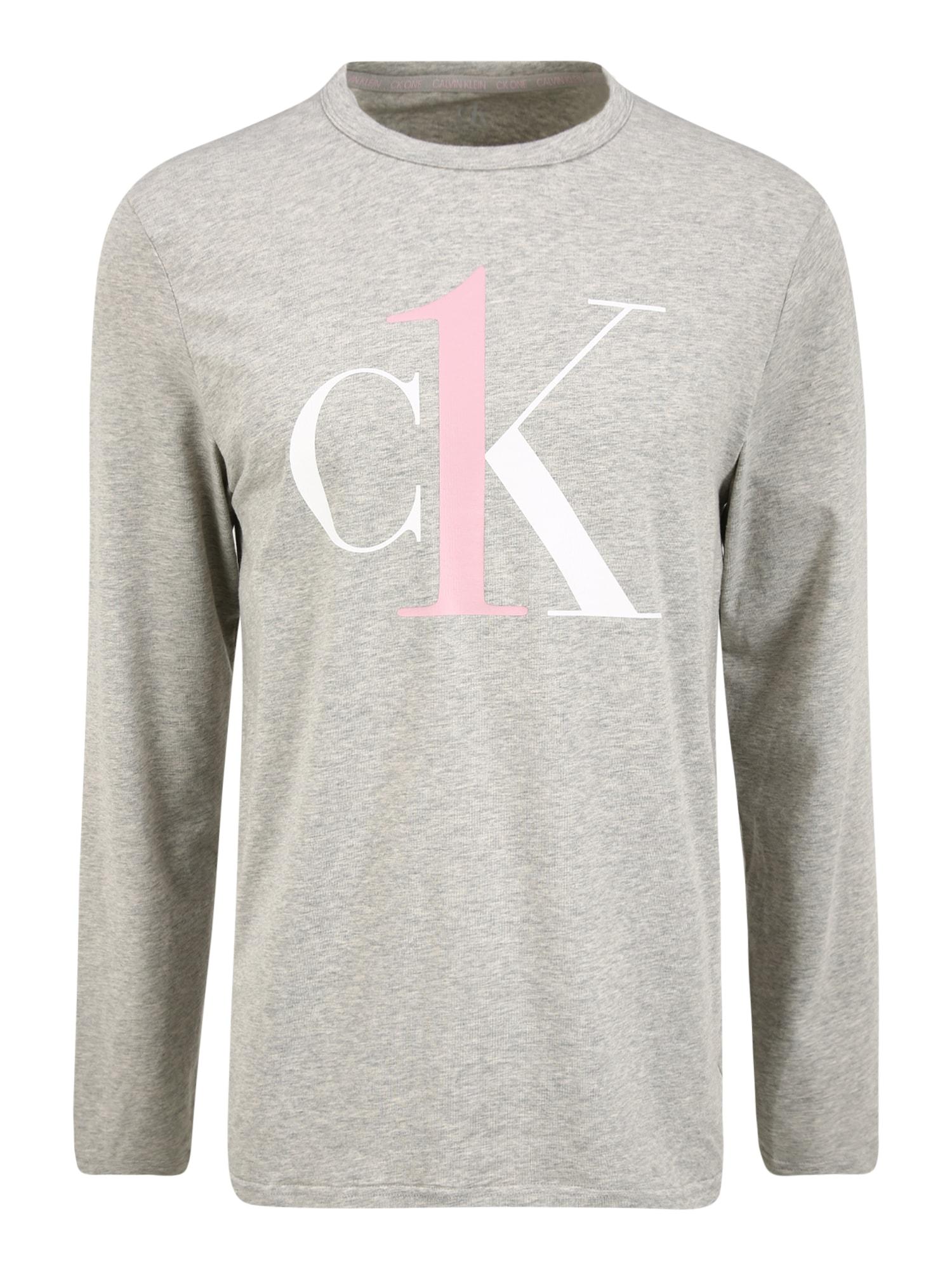 Calvin Klein Underwear Marškinėliai margai pilka / balta / rožių spalva