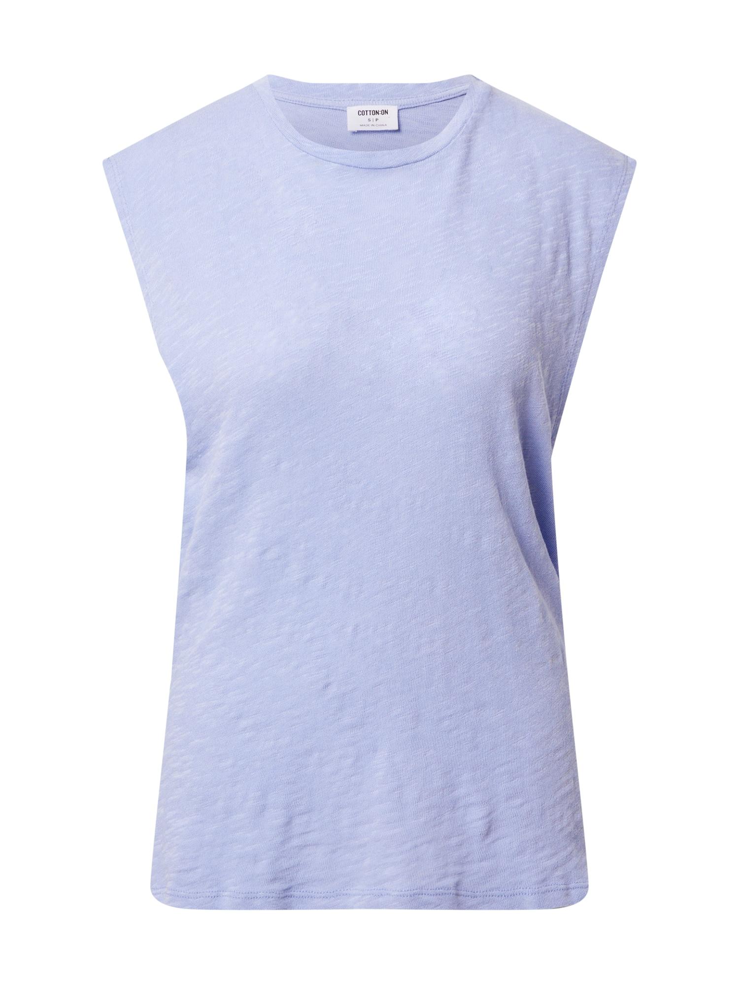 Cotton On Palaidinė be rankovių 'MIKI' mėlyna dūmų spalva