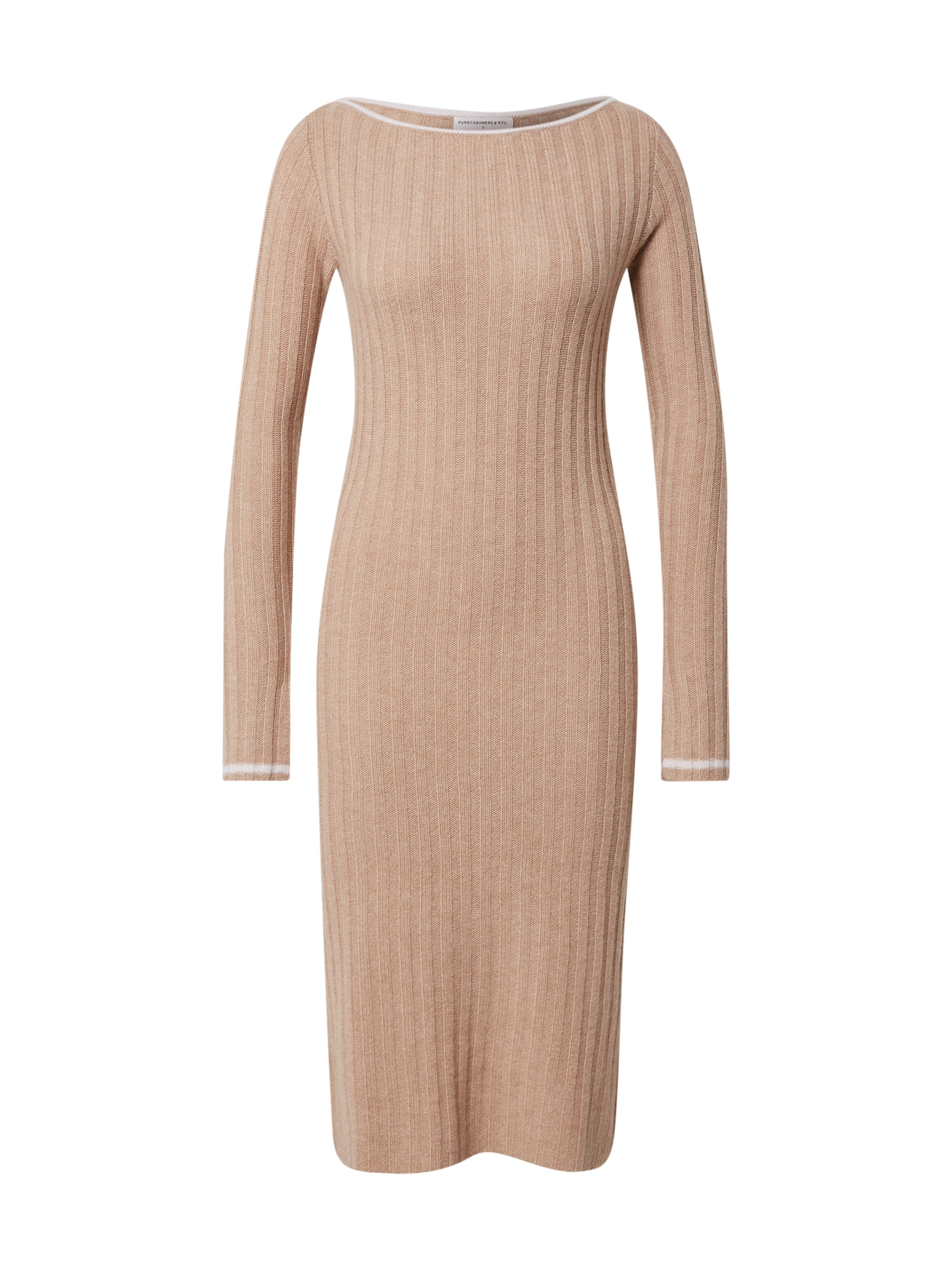 Pure Cashmere NYC Megzta suknelė kupranugario / kremo