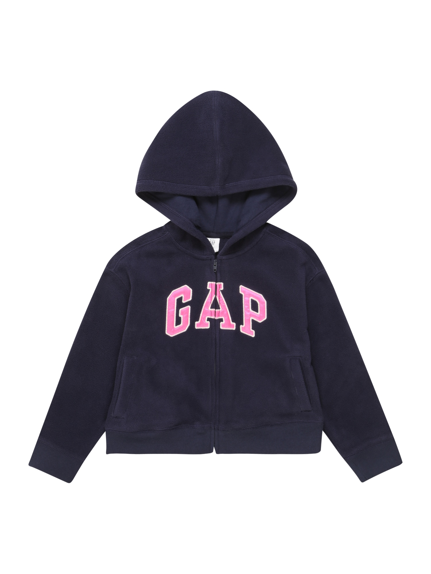 GAP Flisinis džemperis tamsiai mėlyna / rožinė