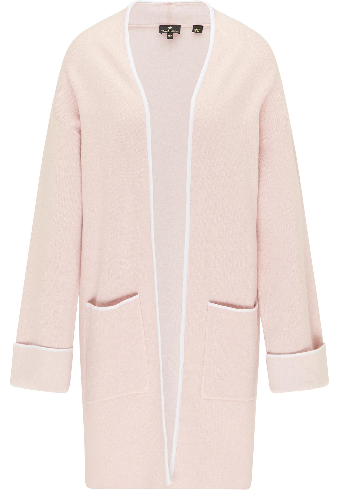 DreiMaster Klassik Ilgas kardiganas ryškiai rožinė spalva / balta