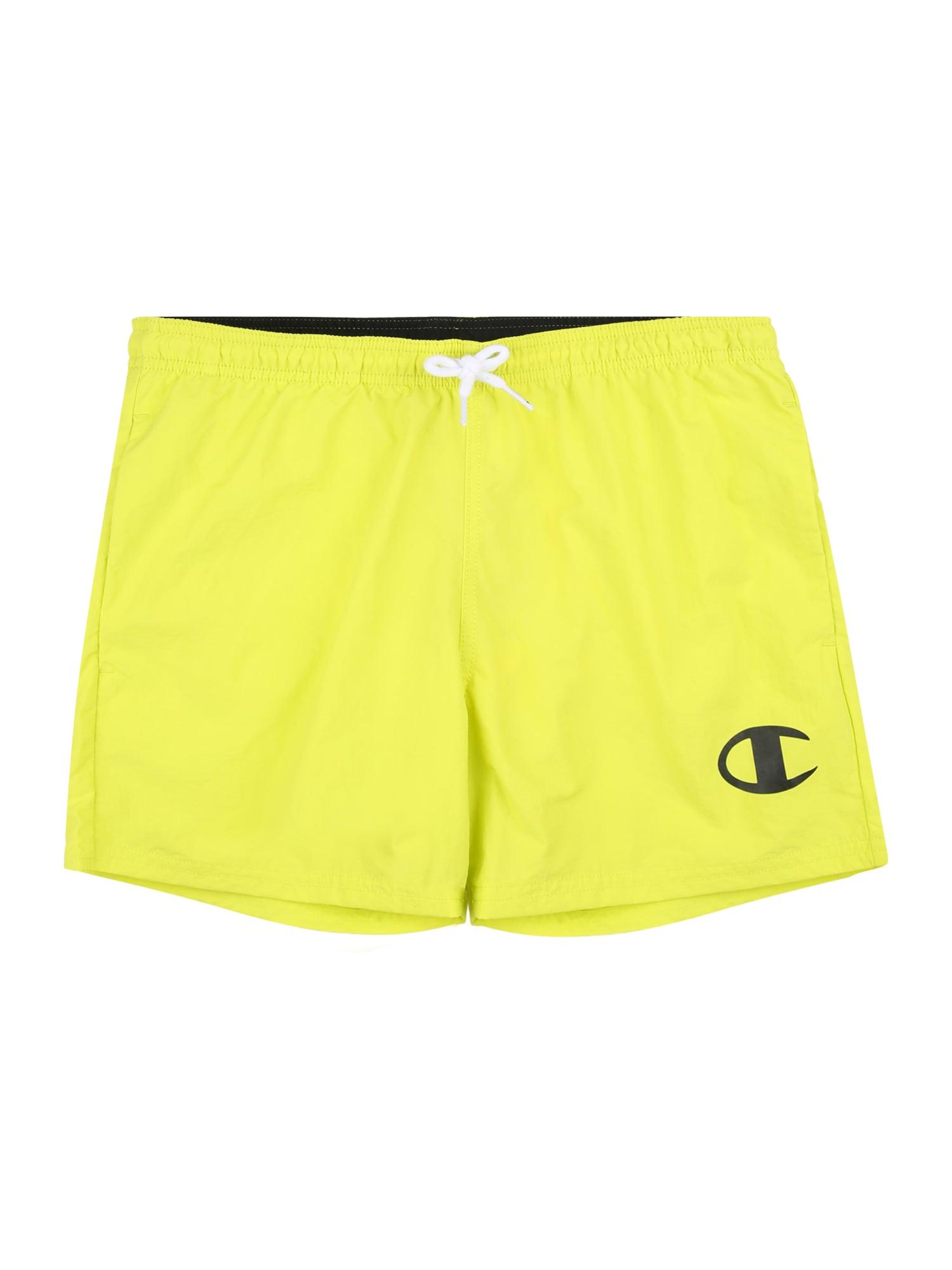 Champion Authentic Athletic Apparel Maudymosi trumpikės žaliosios citrinos spalva / juoda