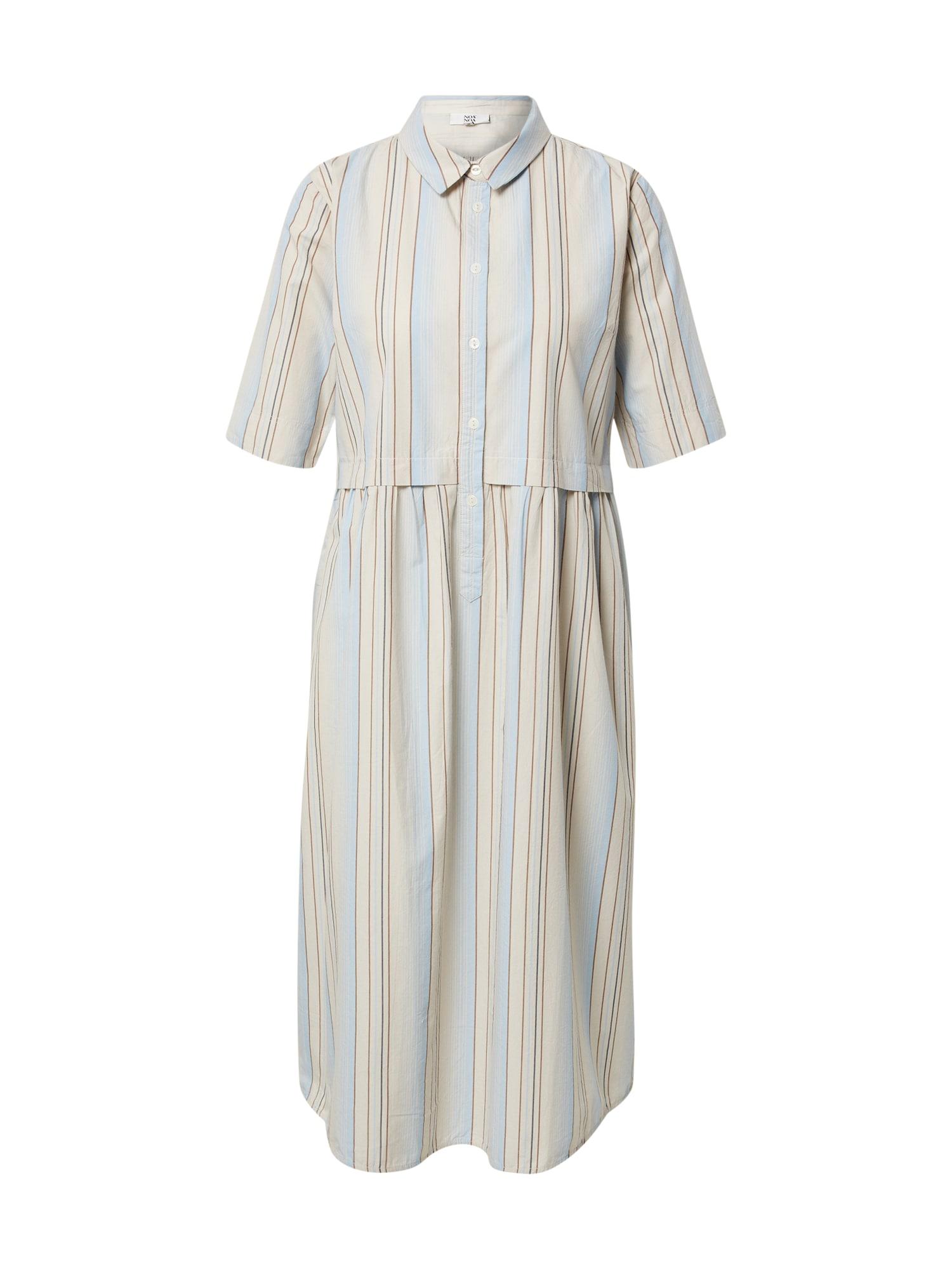 Noa Noa Palaidinės tipo suknelė balkšva / mėlyna dūmų spalva / ruda / smėlio spalva