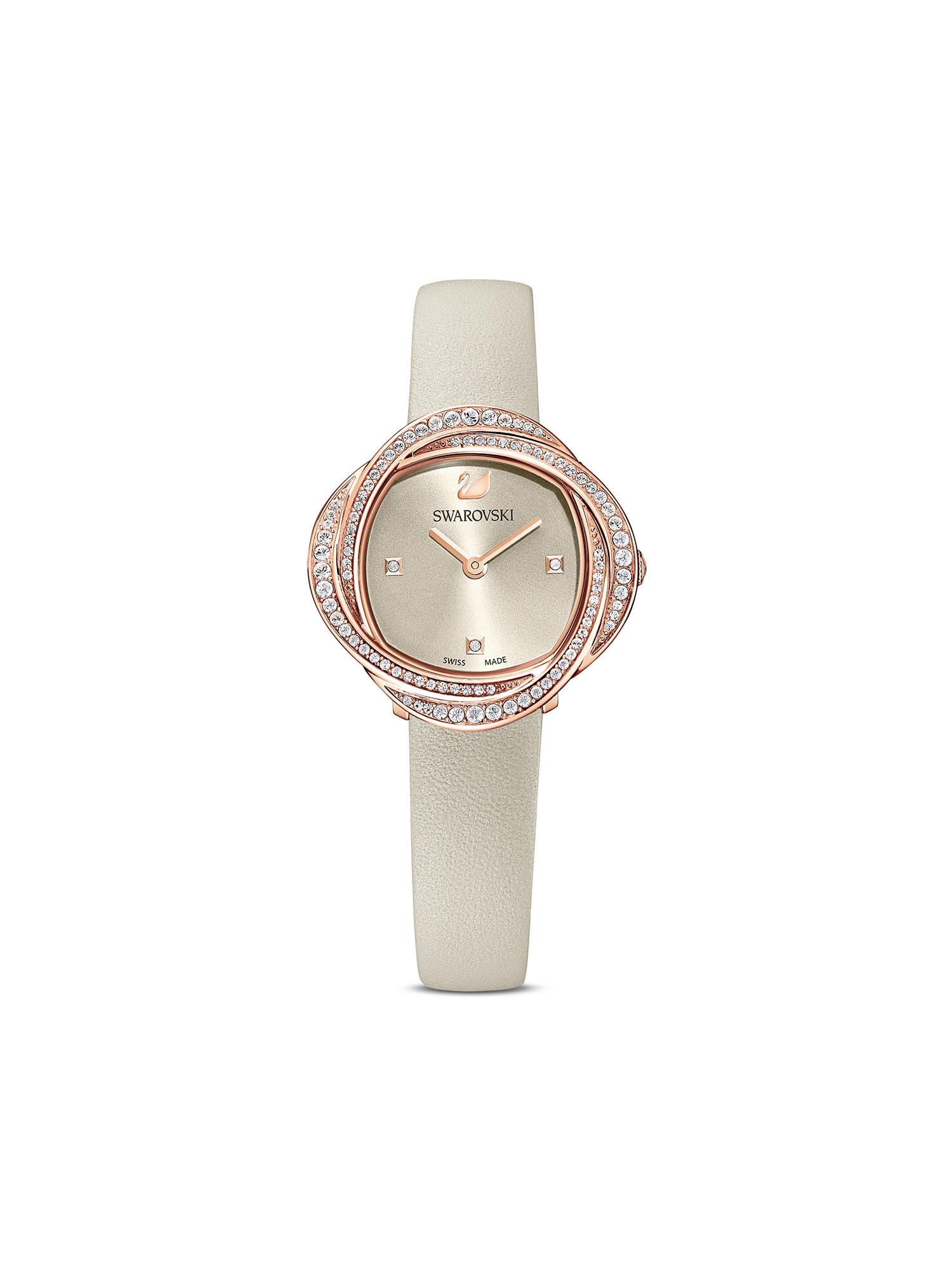 Swarovski Analoginis (įprasto dizaino) laikrodis rožinio aukso spalva / pilka