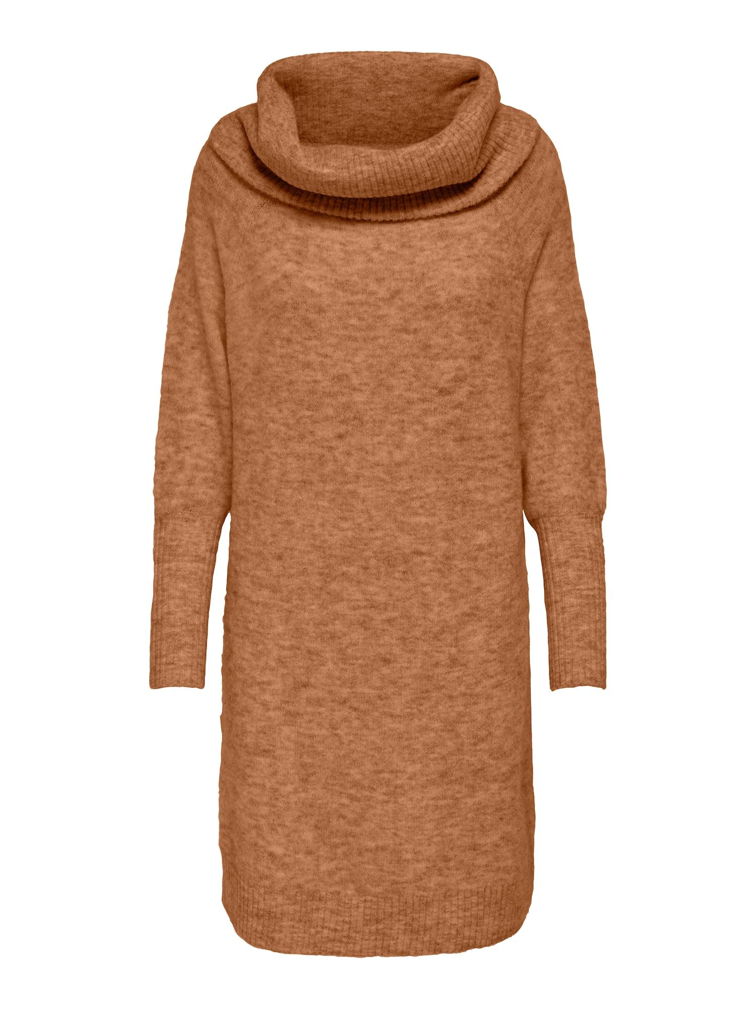 ONLY Úpletové šaty 'Stay'  světle hnědá