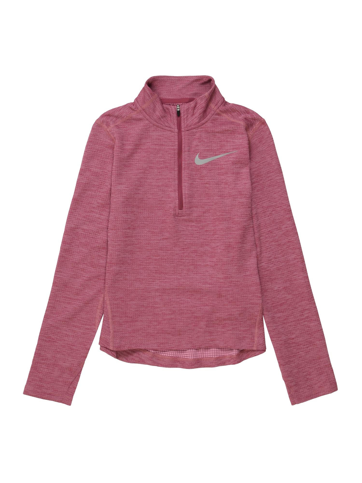NIKE Sportinio tipo megztinis sidabrinė / rožių spalva