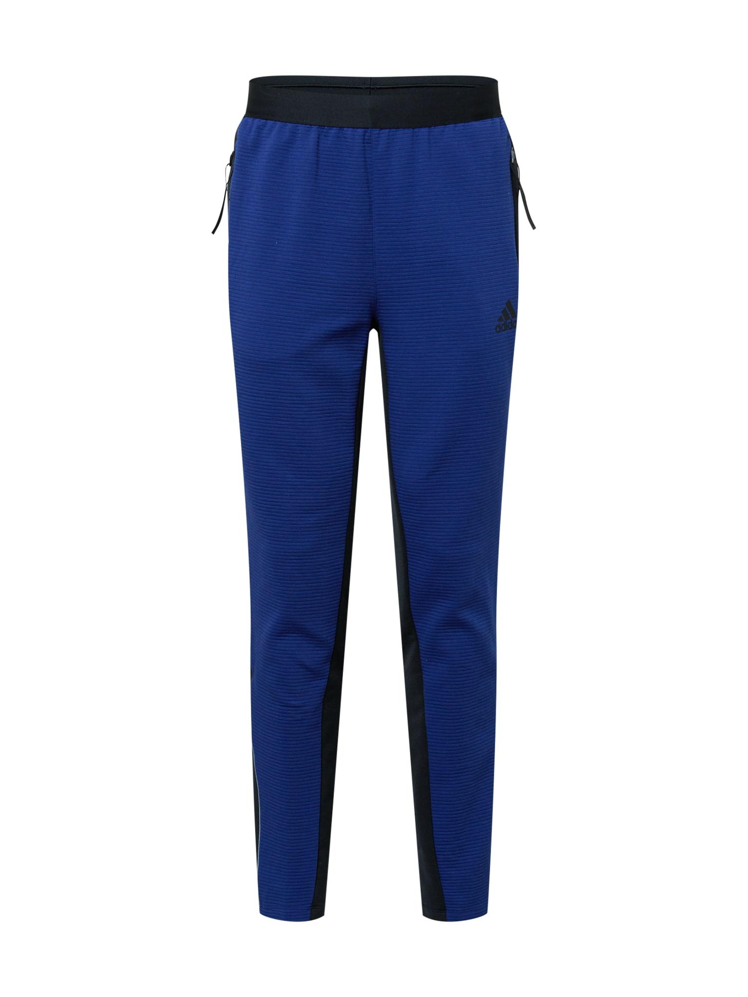 ADIDAS PERFORMANCE Sportovní kalhoty  modrá / černá