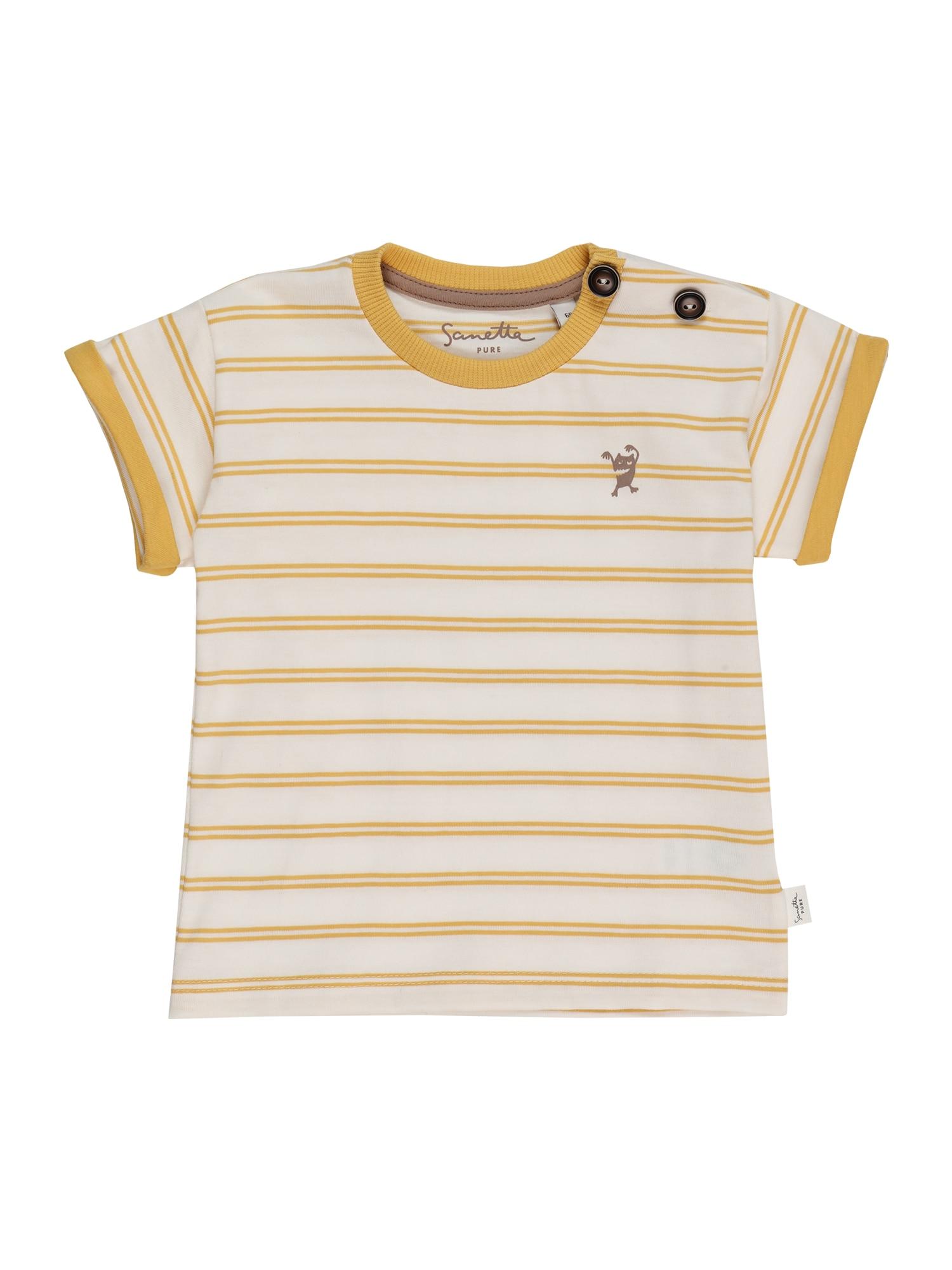 Sanetta Pure Marškinėliai balta / geltona
