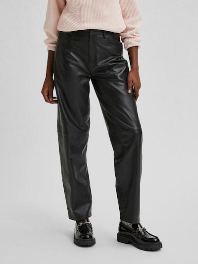 Selected Femme Kua High Waisted Lederhose im Straight-Fit