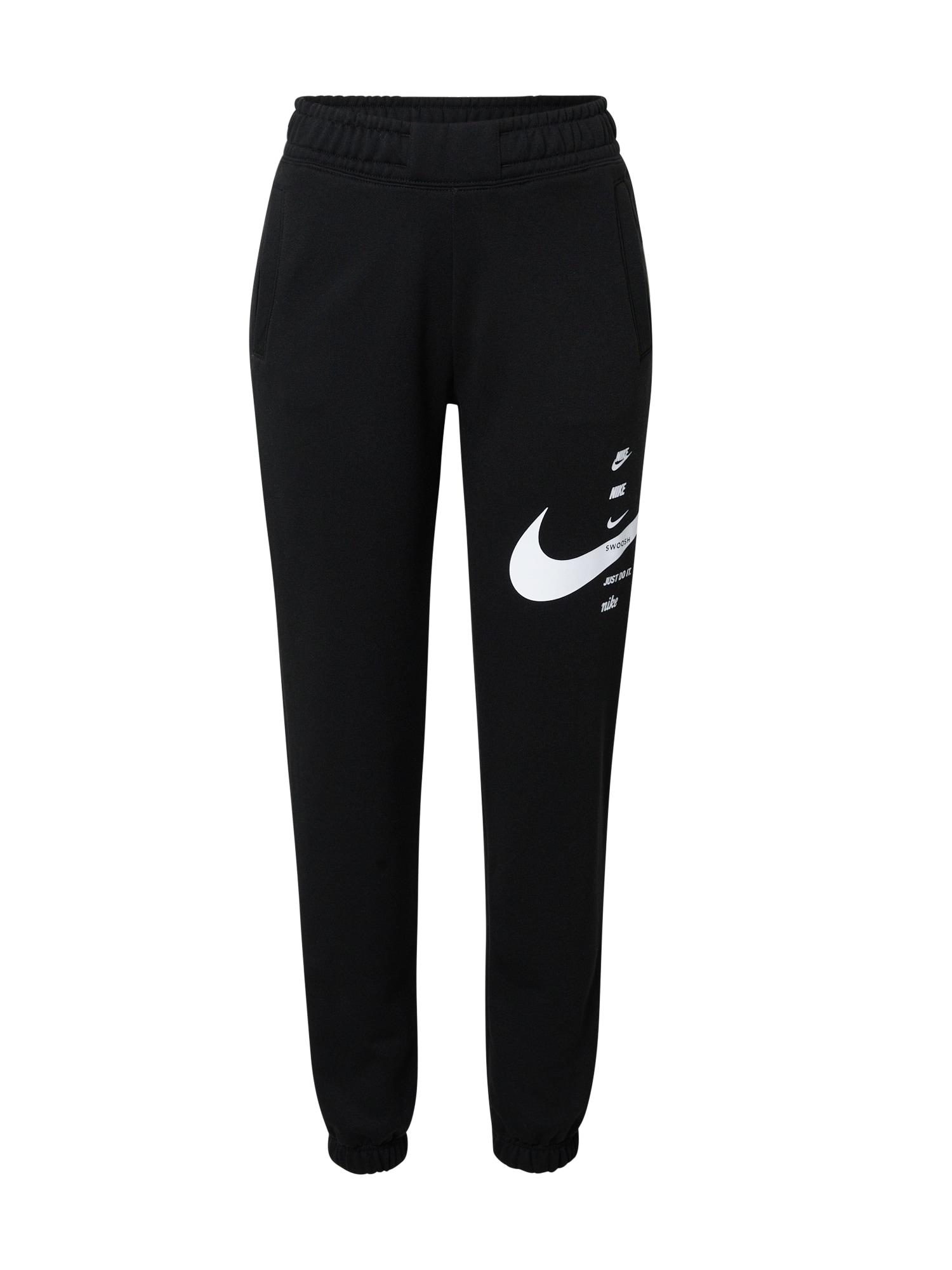 Nike Sportswear Sportovní kalhoty  bílá / černá