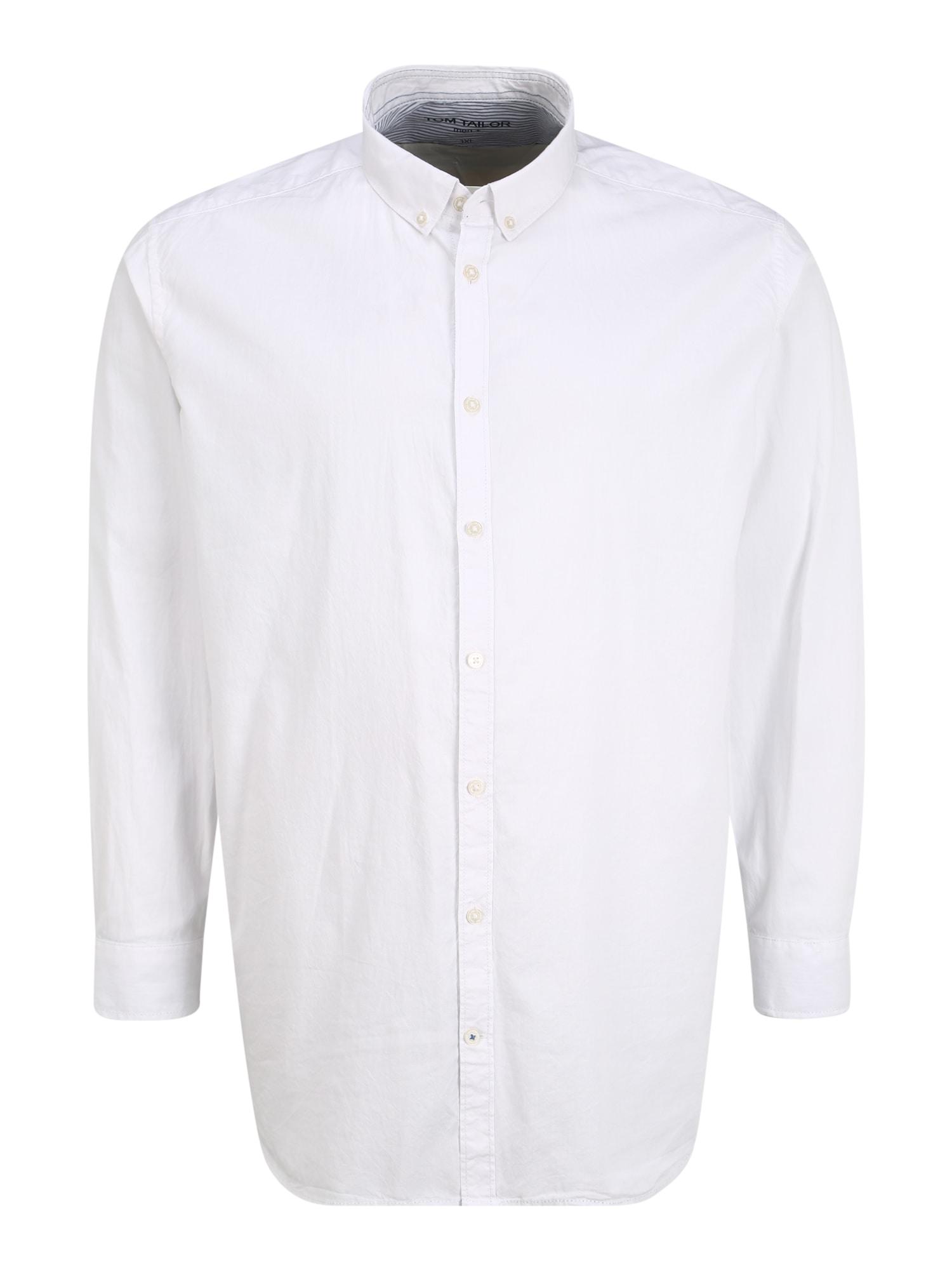 TOM TAILOR Košeľa 'Oxford'  biela