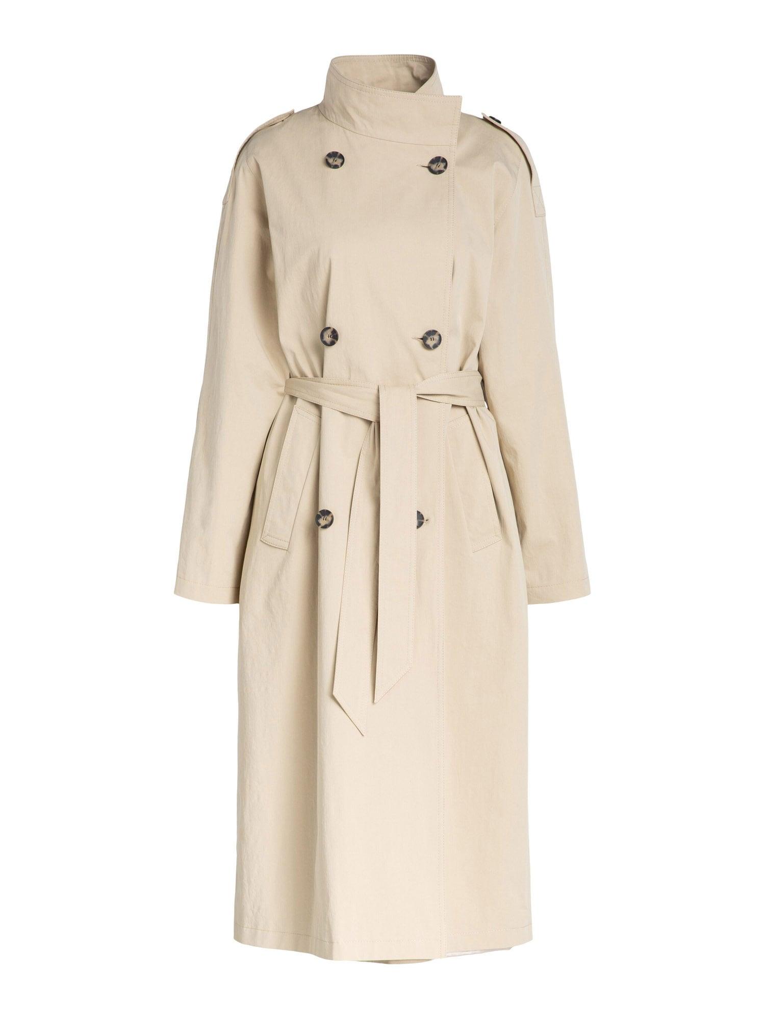 SET Demisezoninis paltas pudros spalva