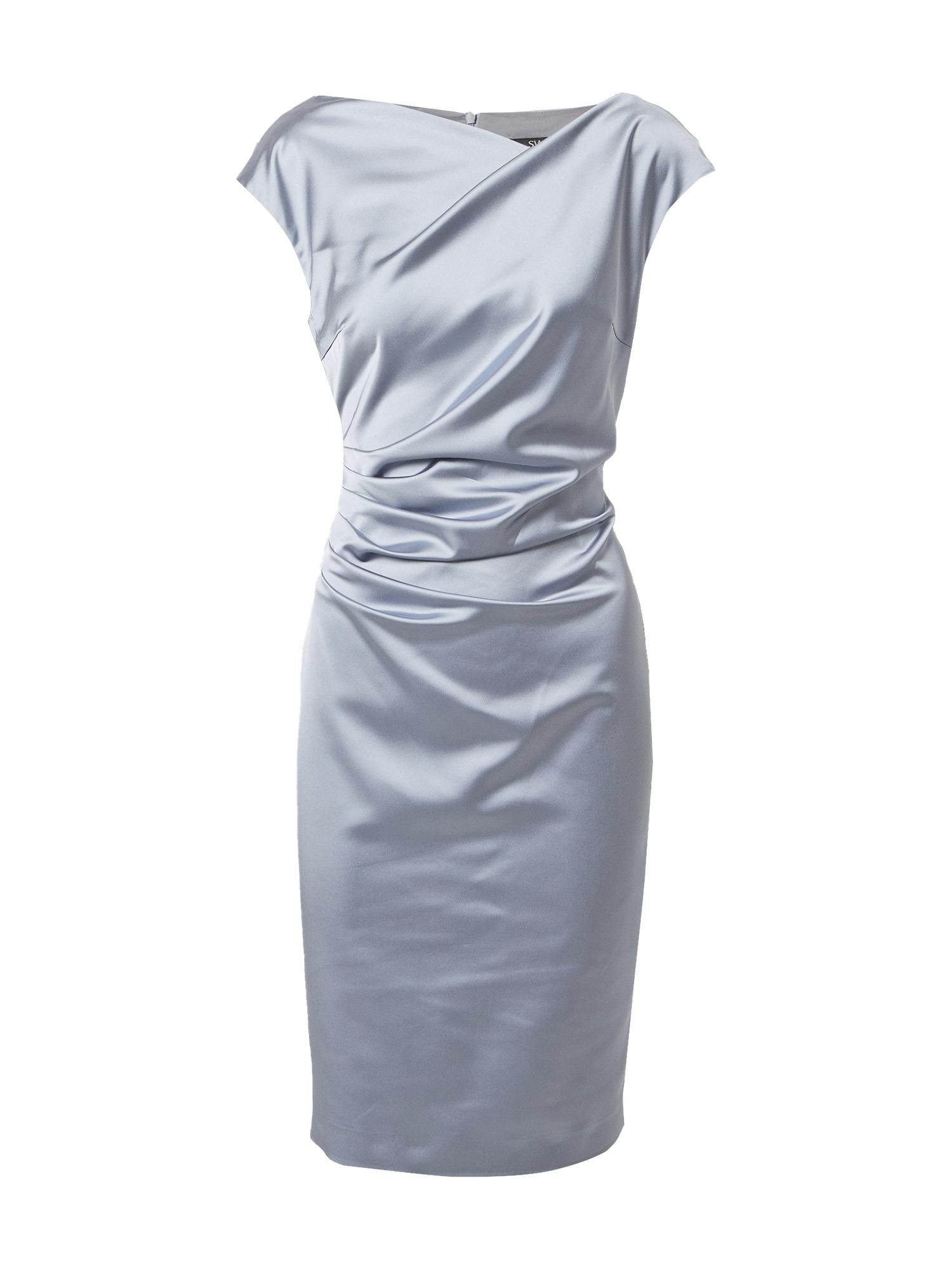 SWING Kokteilinė suknelė azuro spalva