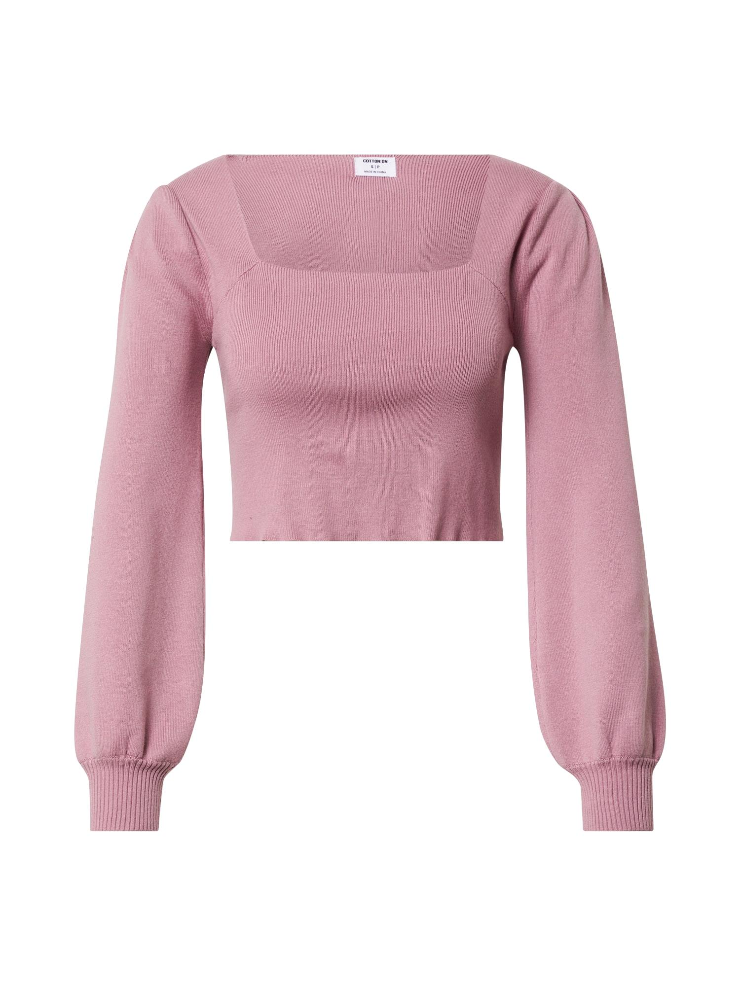 Cotton On Megztinis ryškiai rožinė spalva