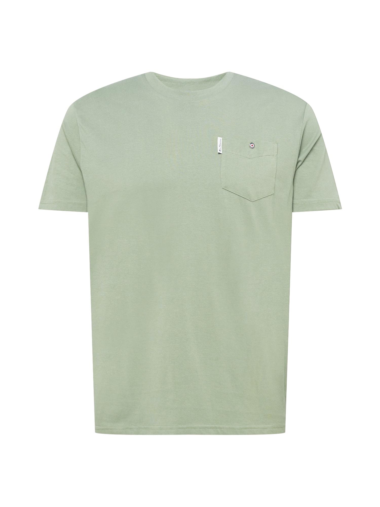Ben Sherman Marškinėliai rusvai žalia