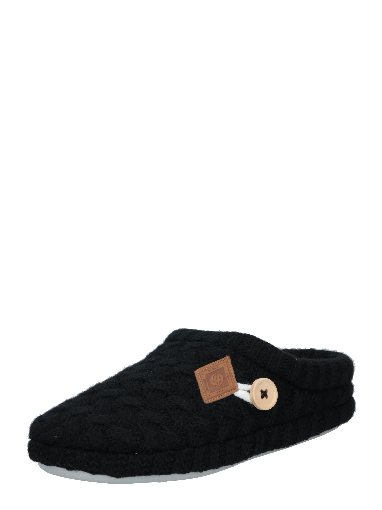 Dockers by Gerli Naminės šlepetės juoda / smėlio spalva
