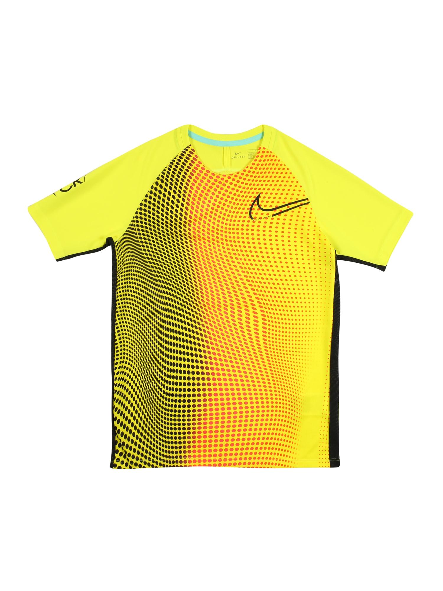 NIKE Funkčné tričko  červená / biela / žltá / čierna