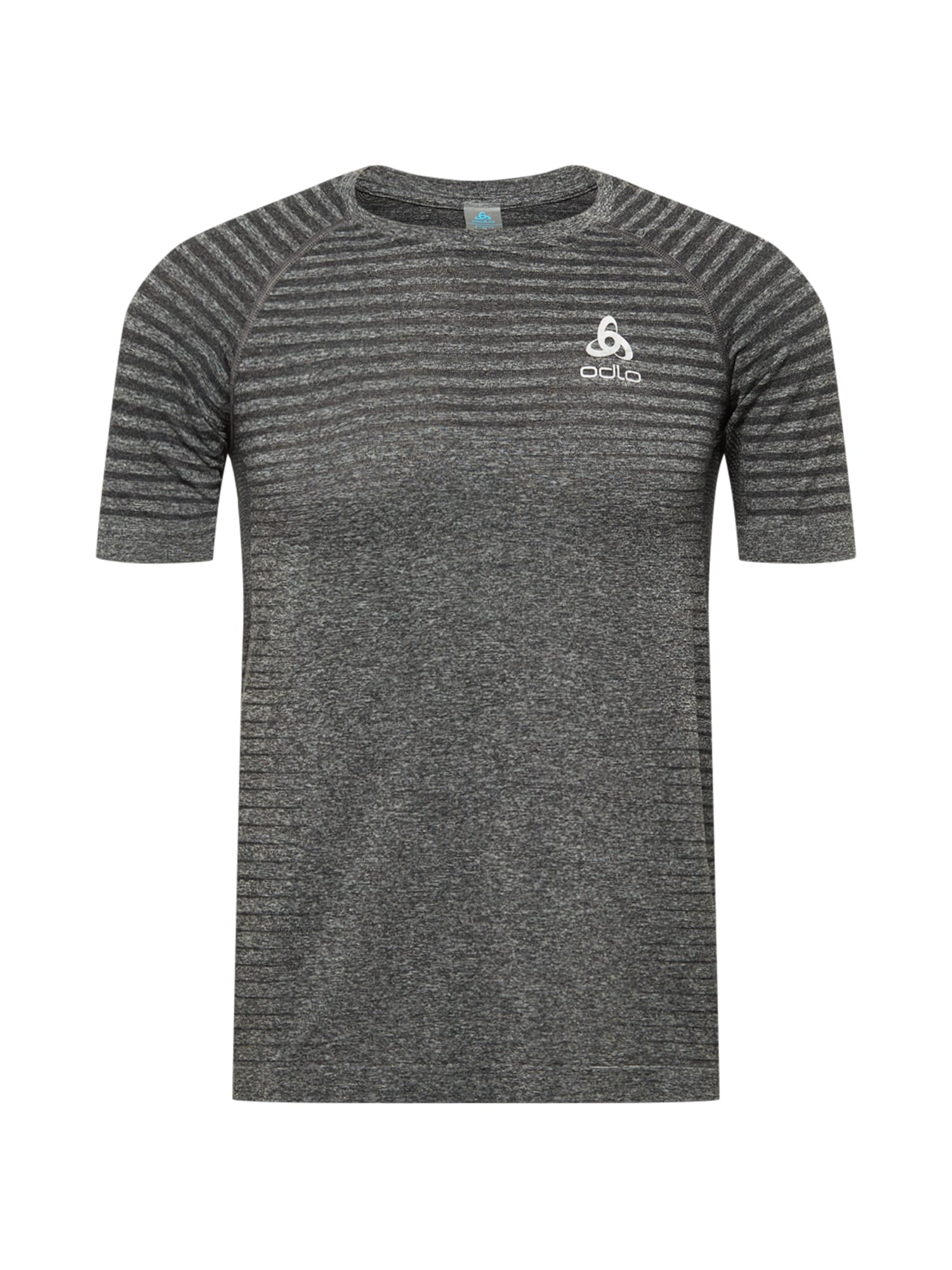 ODLO Sportiniai marškinėliai pilka / tamsiai pilka / balta