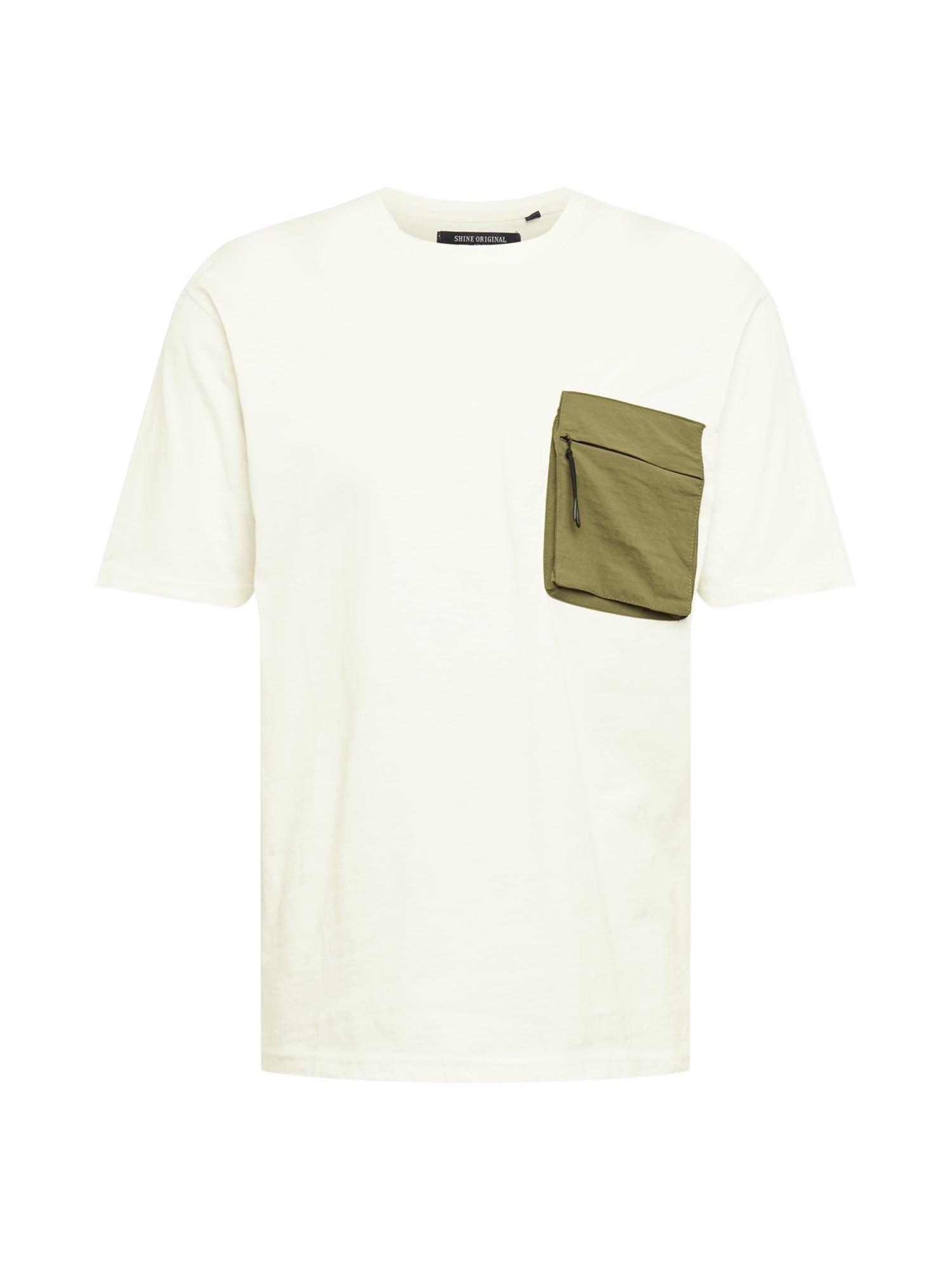 SHINE ORIGINAL Marškinėliai balkšva / rusvai žalia