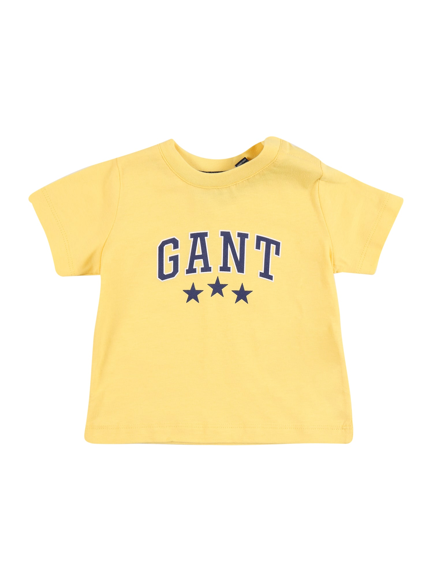 GANT Marškinėliai geltona / tamsiai mėlyna / balta
