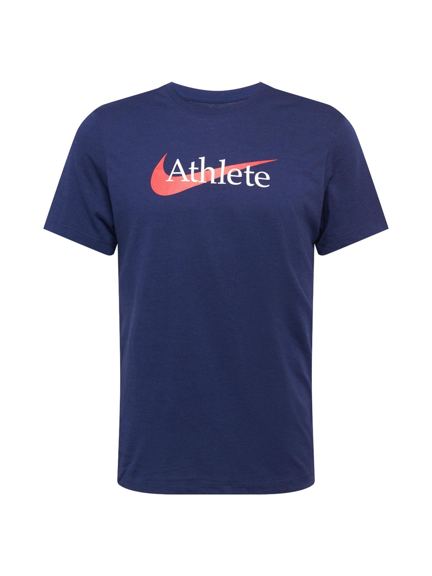NIKE Funkční tričko  námořnická modř / lososová / bílá