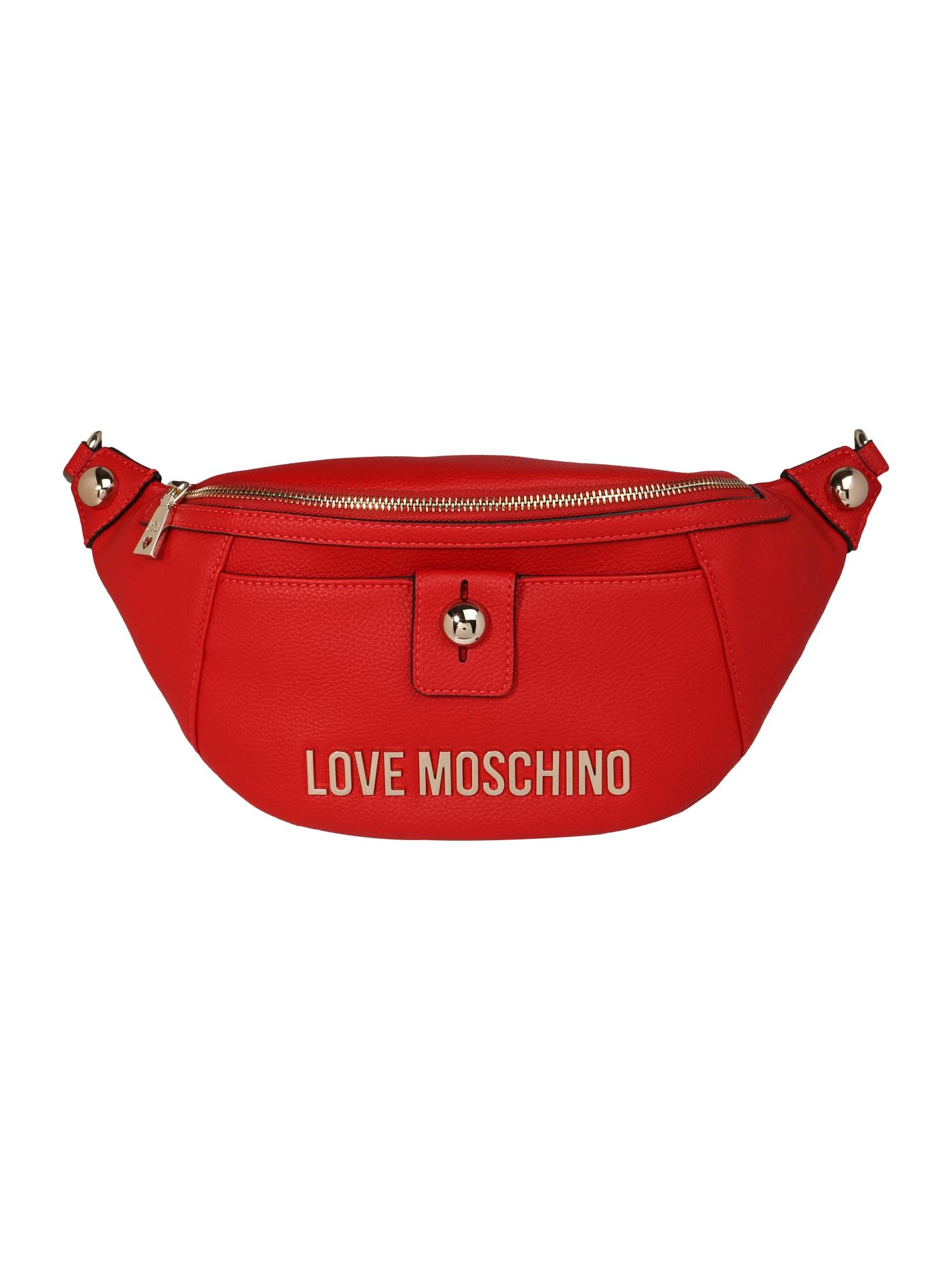 Love Moschino Rankinė ant juosmens tamsiai raudona
