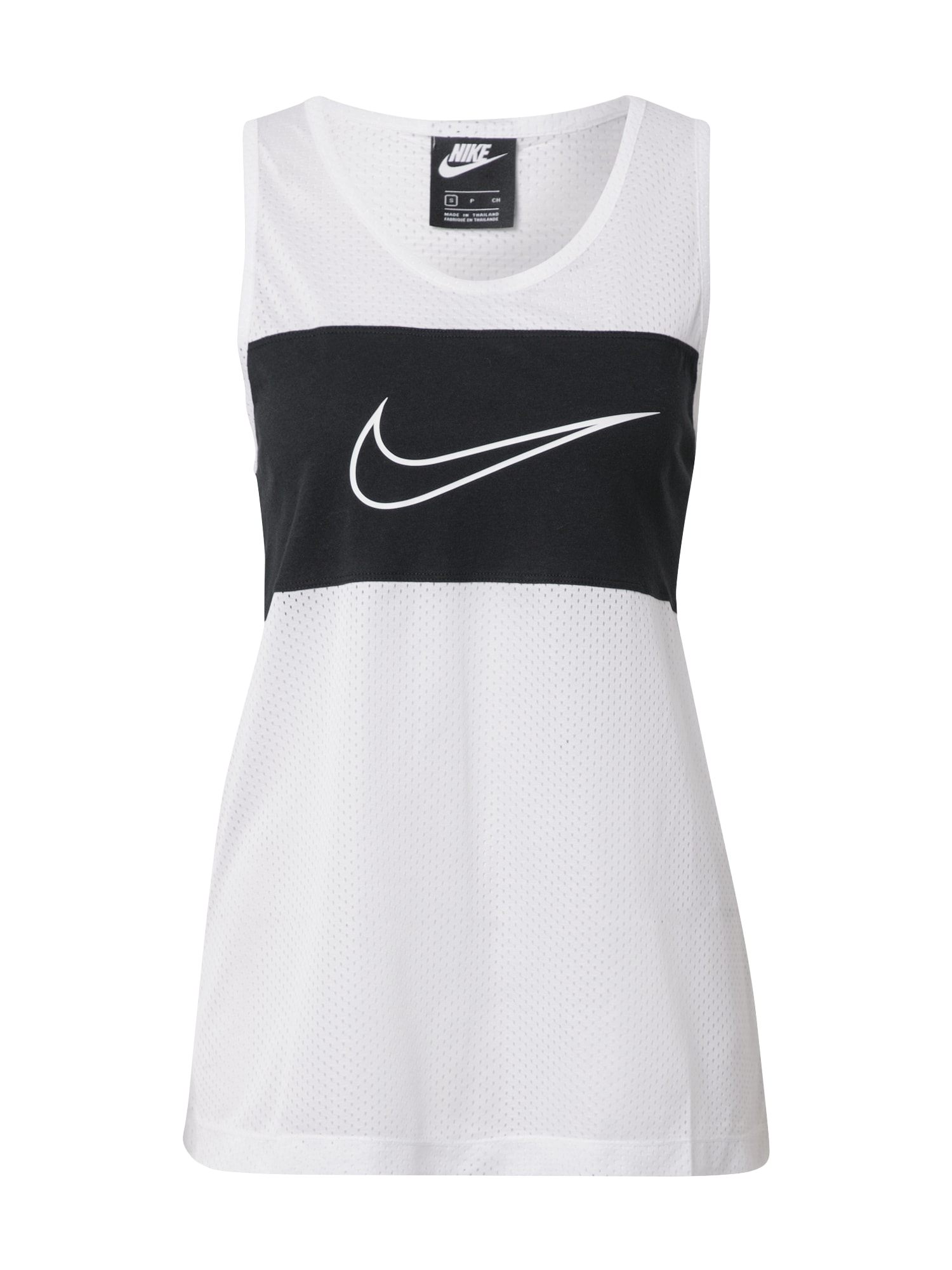 Nike Sportswear Sportovní top  černá / bílá