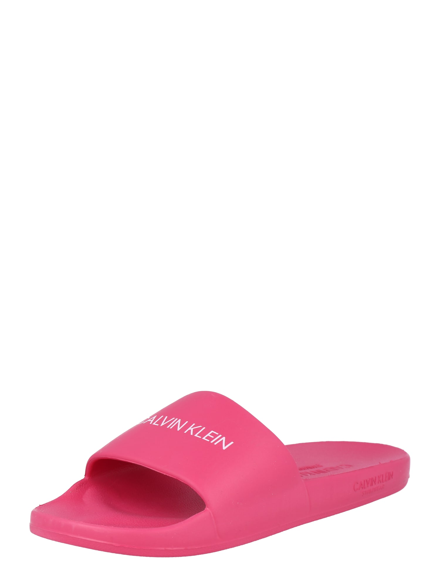 Calvin Klein Swimwear Atviri batai 'ONE MOLD SLIDE' rožinė / balta