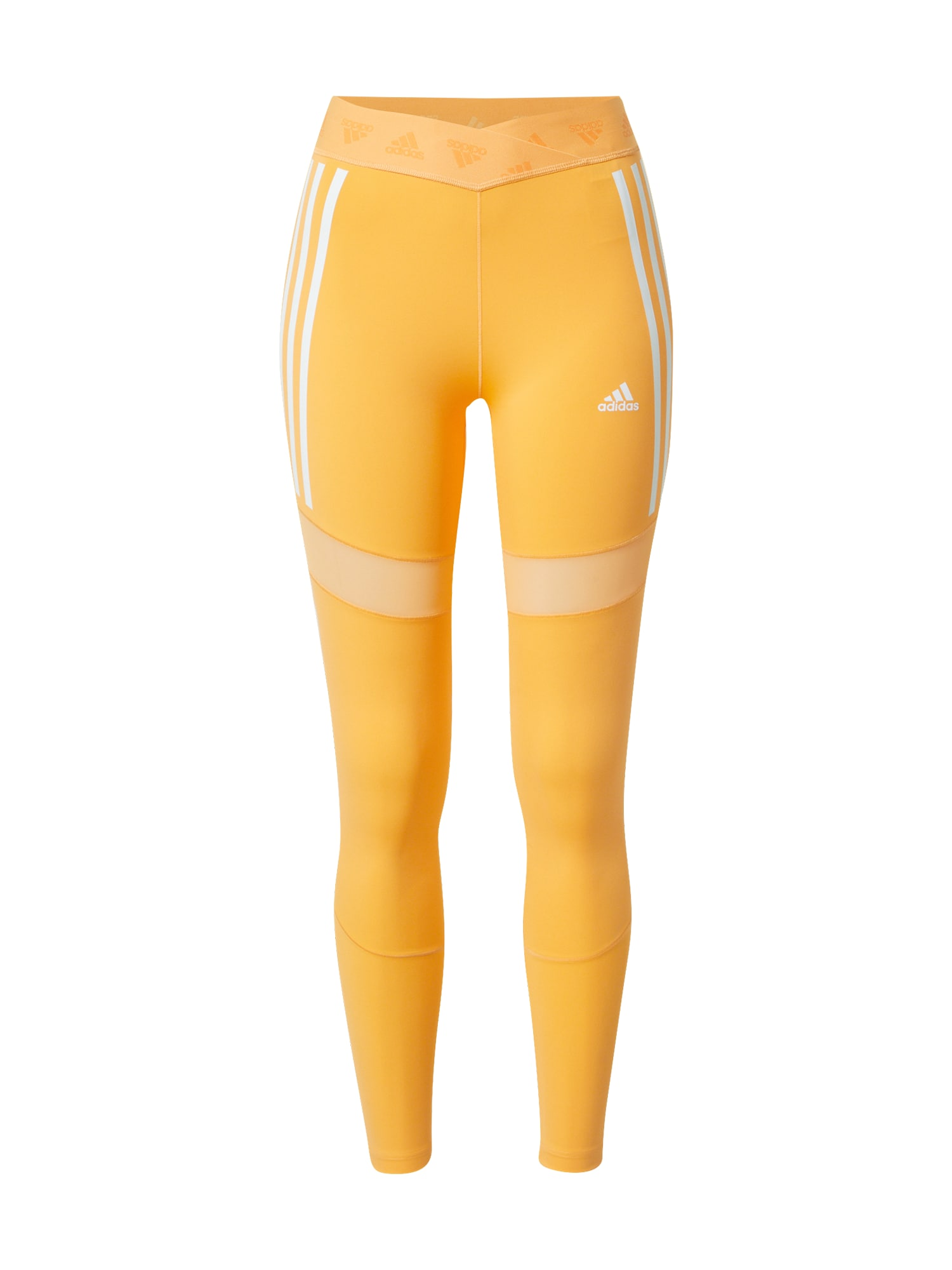 ADIDAS PERFORMANCE Sportovní kalhoty  jasně oranžová / bílá