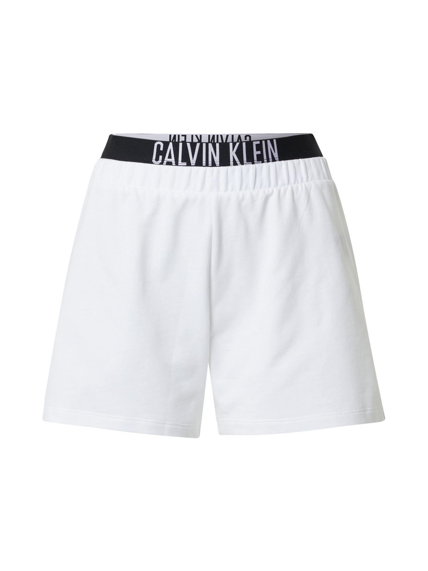 Calvin Klein Swimwear Kelnės balta / juoda