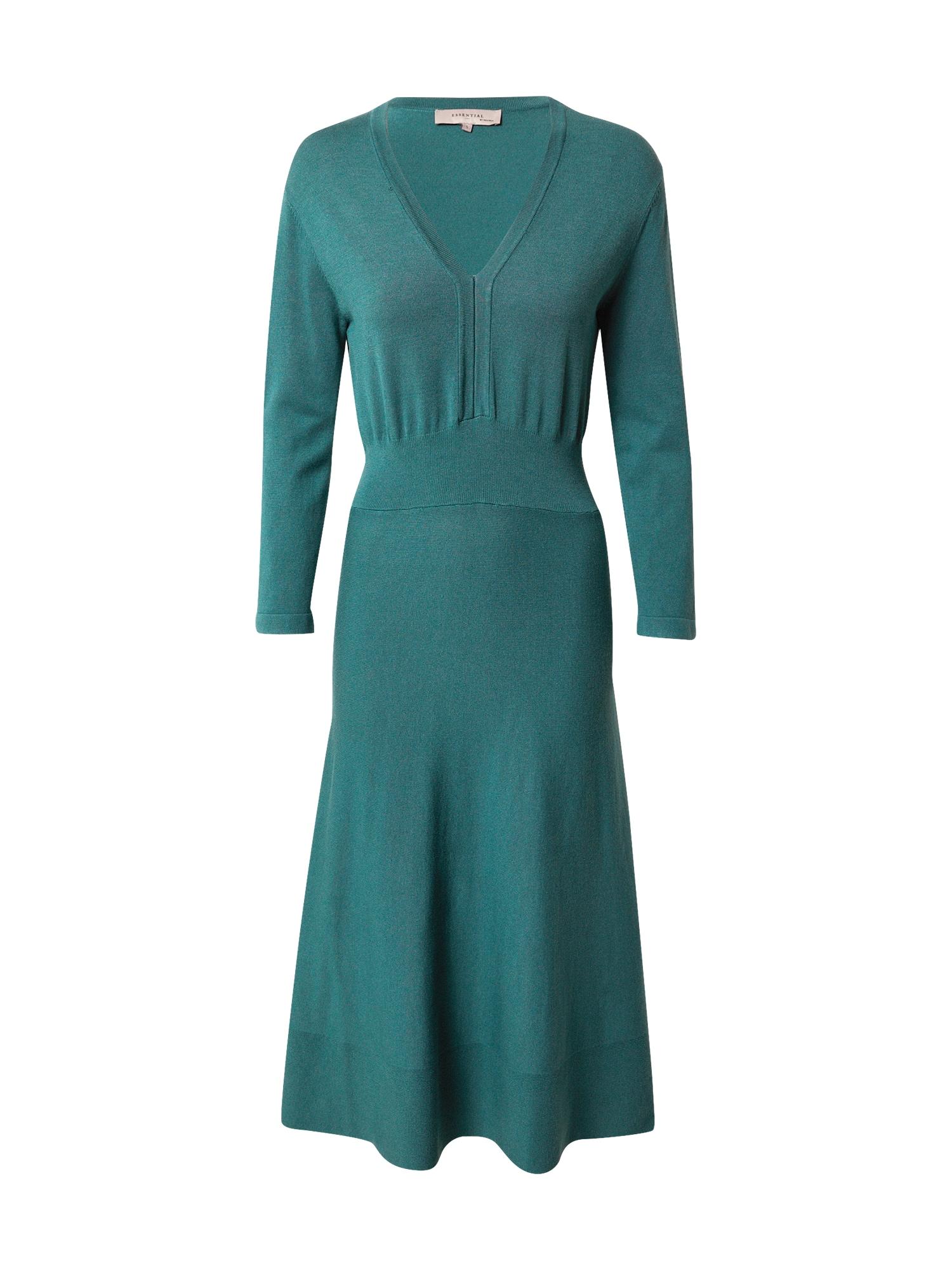 Noa Noa Megzta suknelė pastelinė žalia