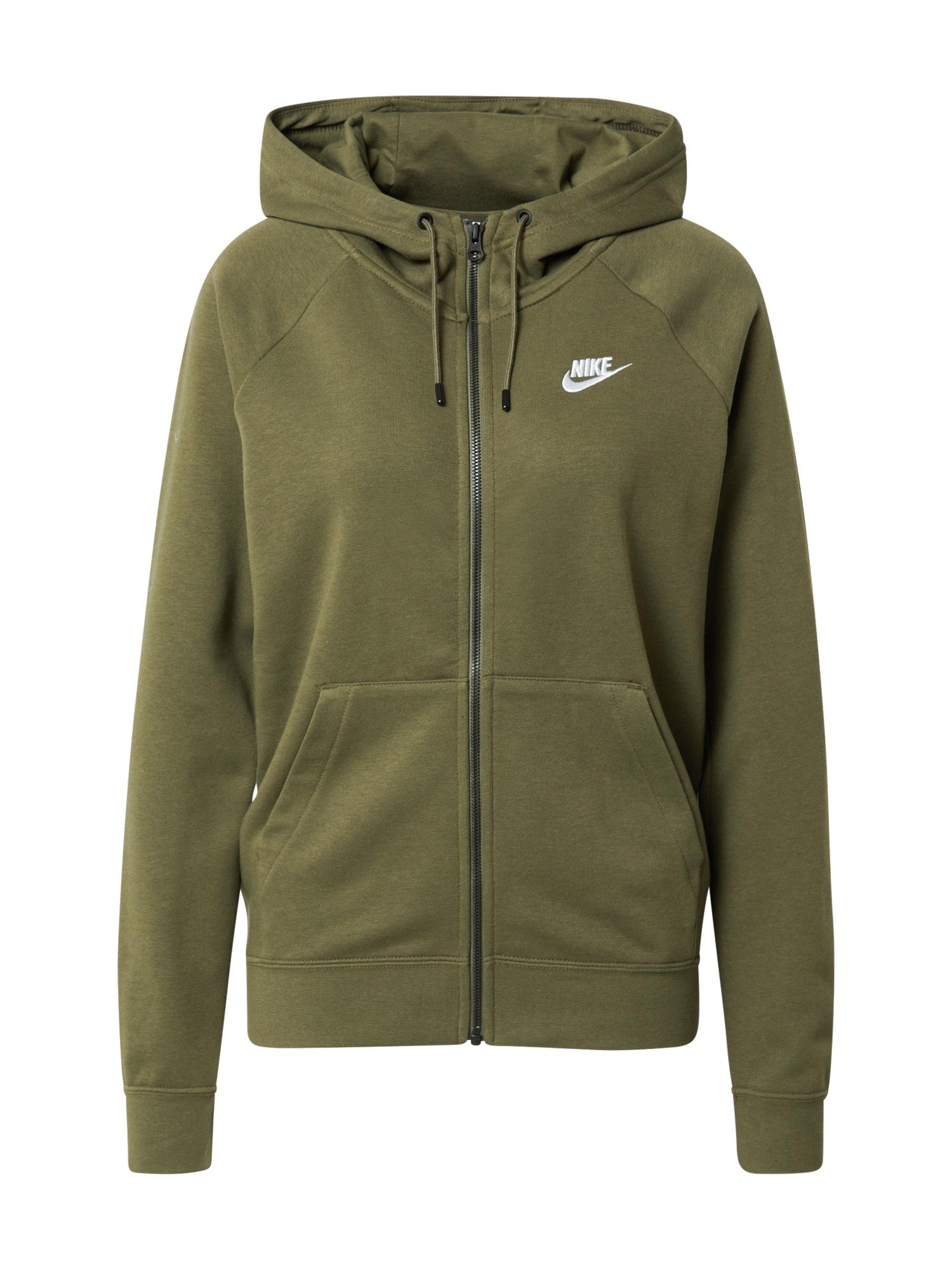 Nike Sportswear Džemperis alyvuogių spalva / balta