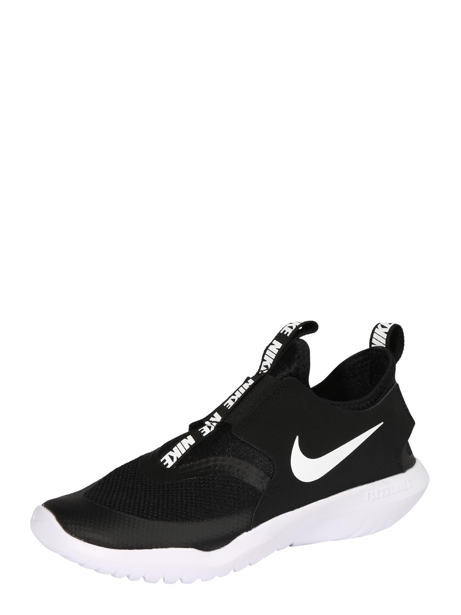 NIKE Sportovní boty 'Flex Runner'  bílá / černá