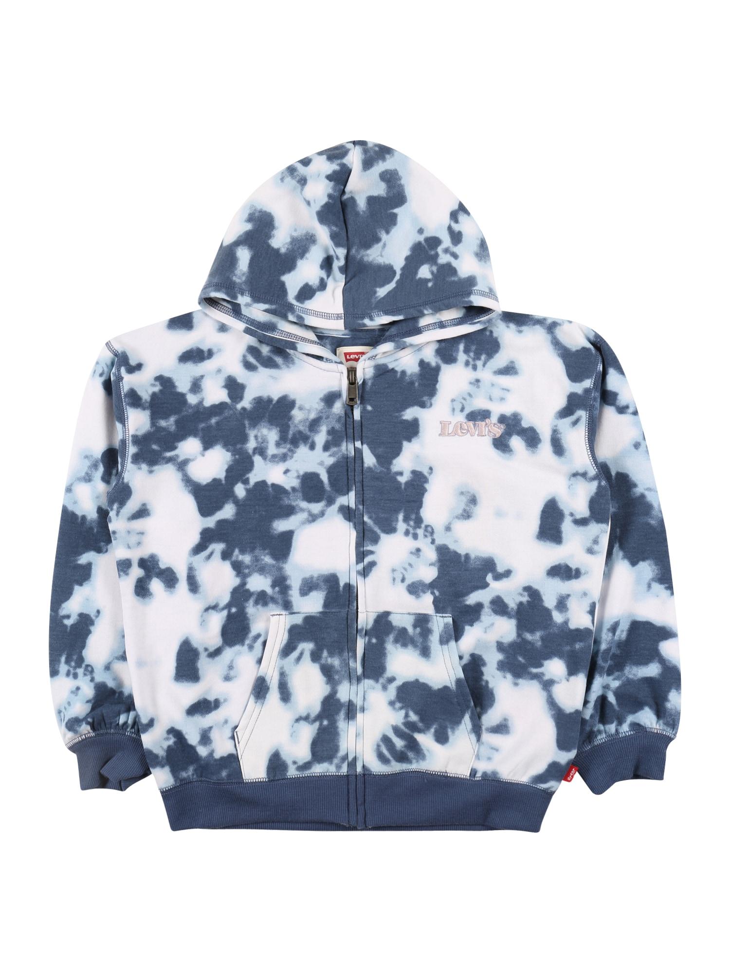 LEVI'S Mikina s kapucí  modrá / bílá