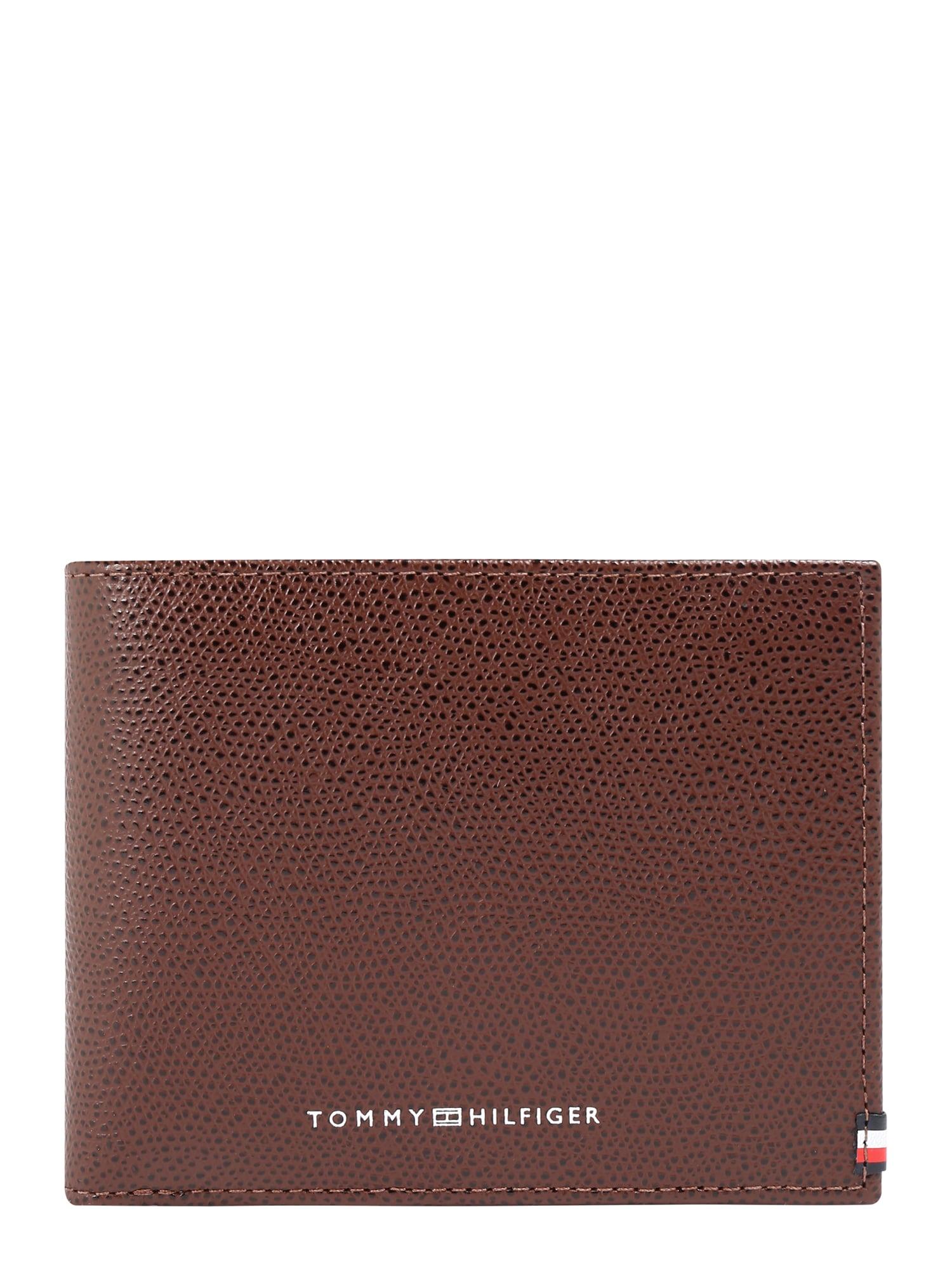 TOMMY HILFIGER Peněženka  tmavě hnědá / okrová