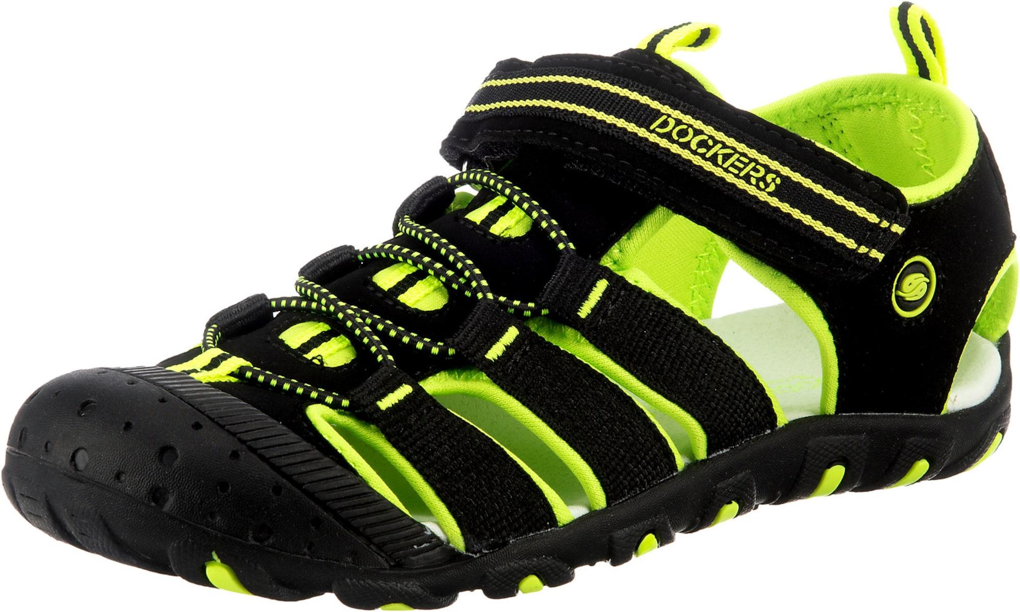 Dockers by Gerli Atviri batai juoda / šviesiai žalia