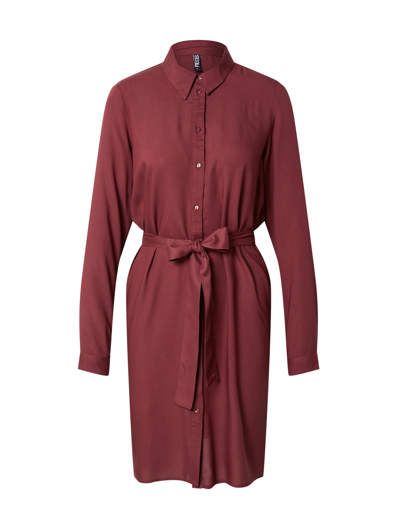 PIECES Košilové šaty 'CAMMIE'  krvavě červená