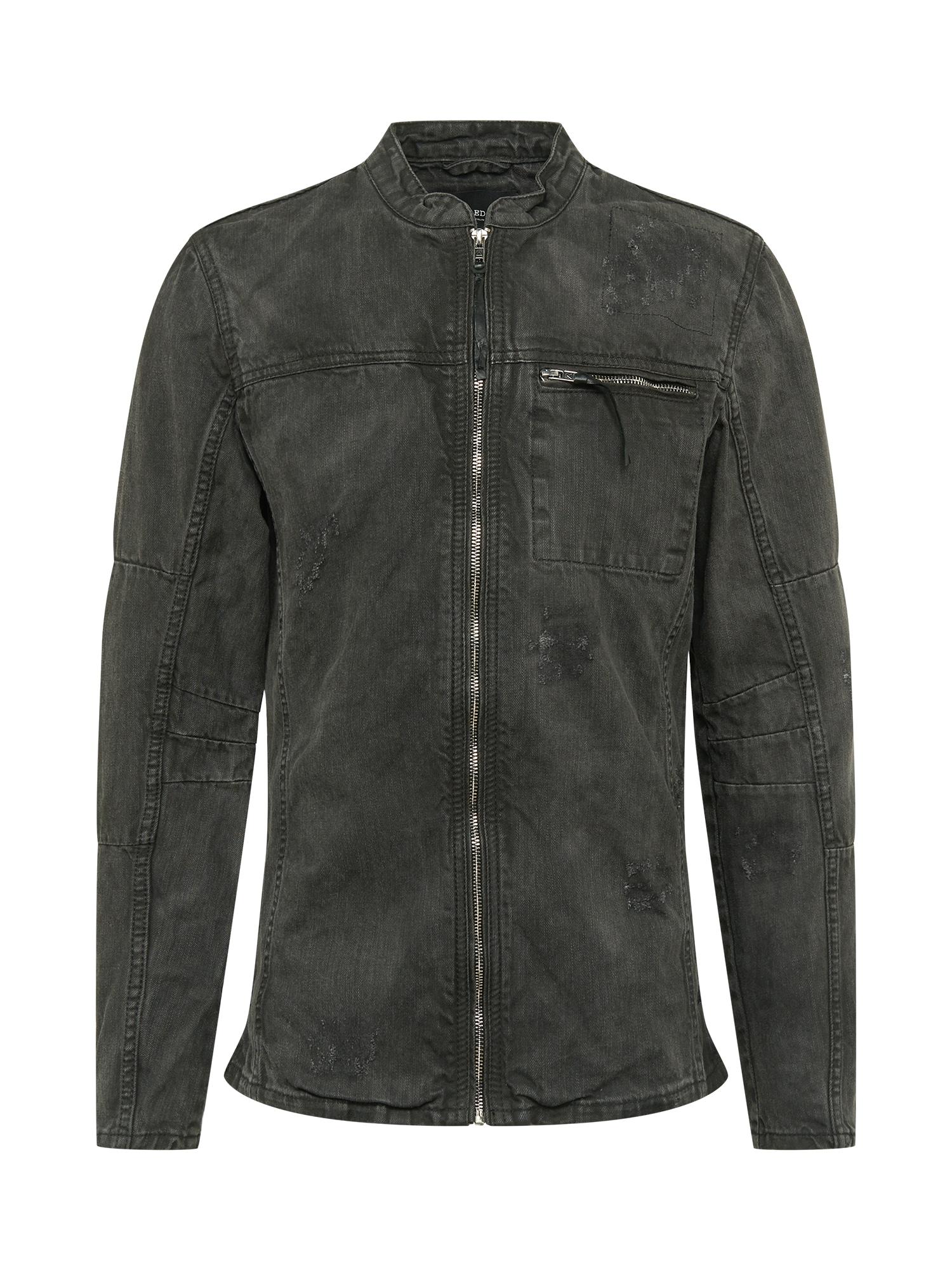 BE EDGY Demisezoninė striukė 'Traver' juodo džinso spalva / balta