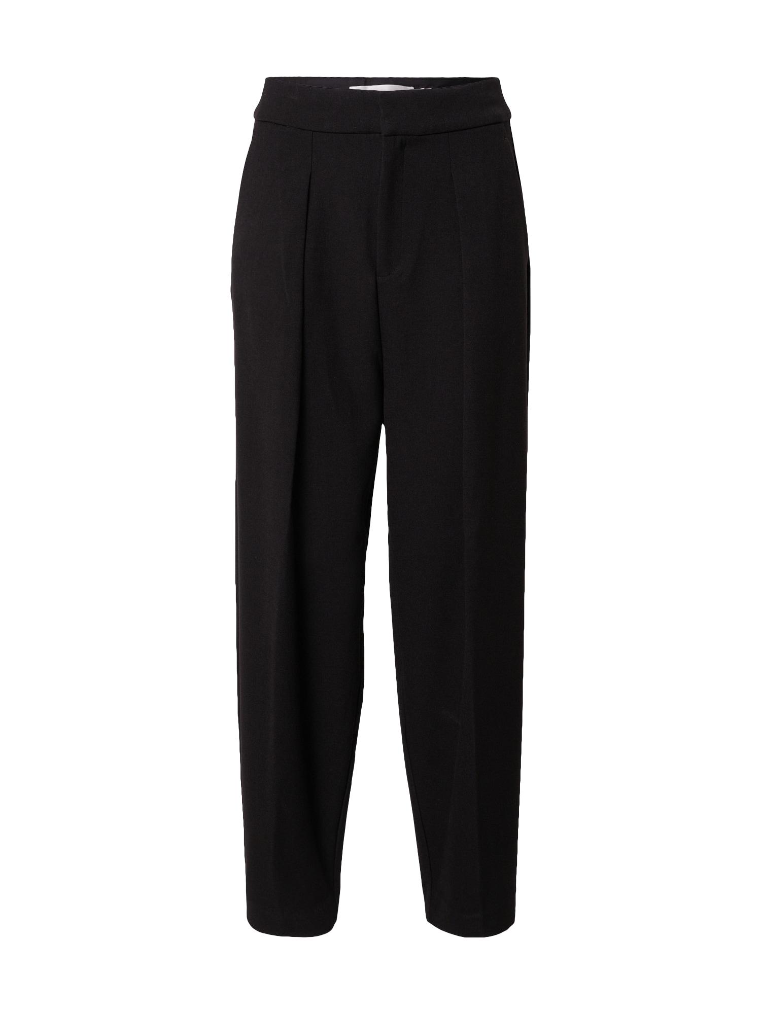 InWear Kalhoty se sklady v pase 'Caylee'  černá