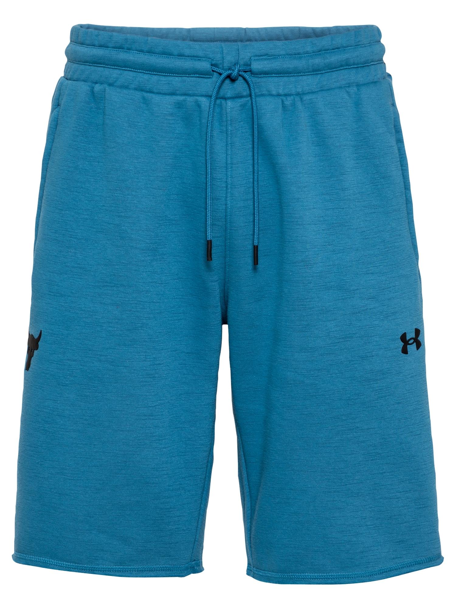 UNDER ARMOUR Sportinės kelnės pastelinė mėlyna / juoda