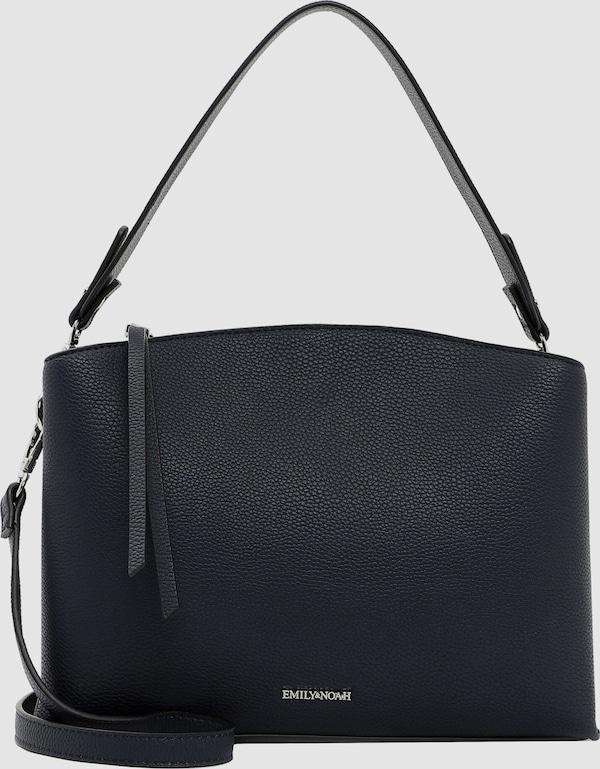 Modische Handtasche der Marke Emily & Noah mit Magnetverschluss und abnehmbarem, verstellbarem Umhängeriemen. Das elegante, schlichte Design im Echtleder-Optik macht sie zum idealen modischen Begleiter für viele Gelegenheiten.
