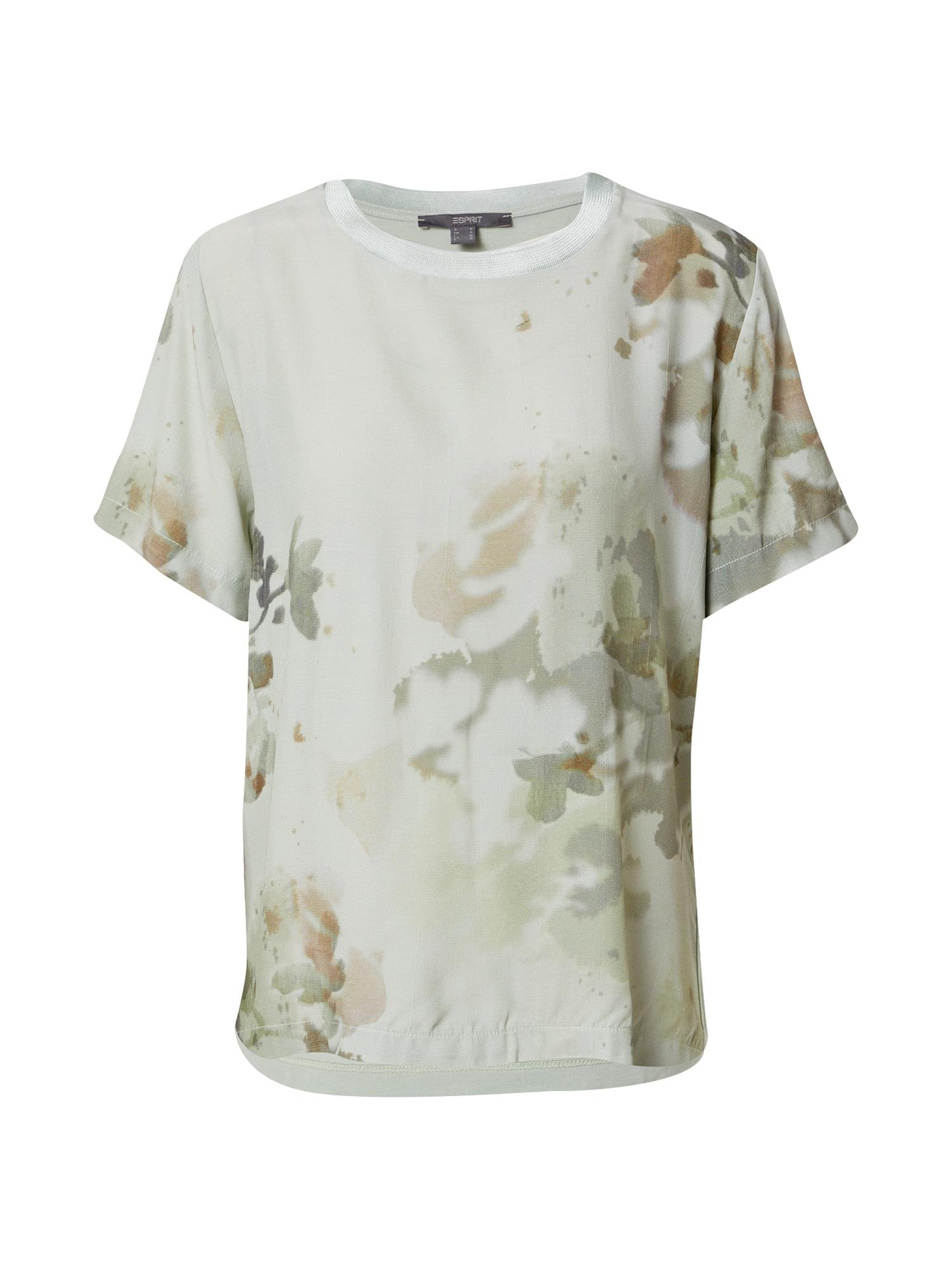 Esprit Collection Marškinėliai rusvai žalia / alyvuogių spalva / pastelinė žalia